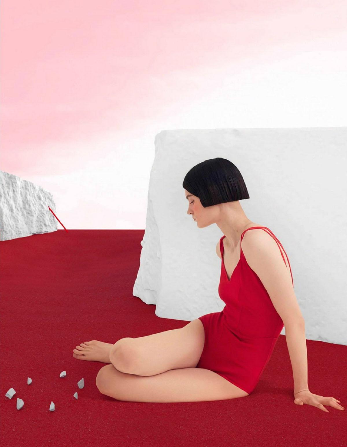 Tanya Churbanova covers Vogue Russia March 2021 by Yan Yugay