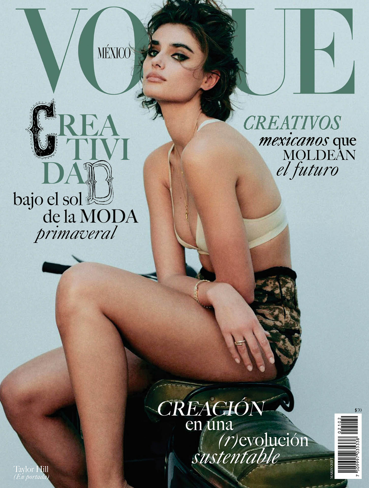 Taylor Hill covers Vogue Mexico March 2021 by Chris Colls