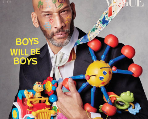 Vladimir McCrary covers L'Uomo Vogue Issue 10 by Julien Martinez Leclerc