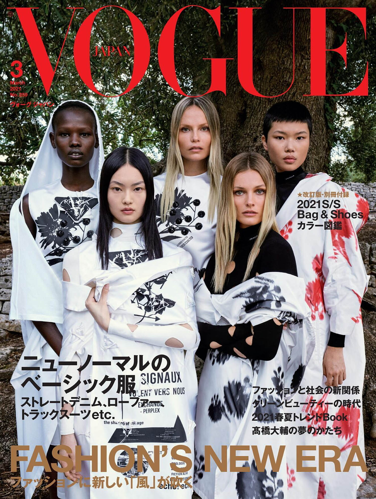 Vogue Japan March 2021 cover by Luigi & Iango