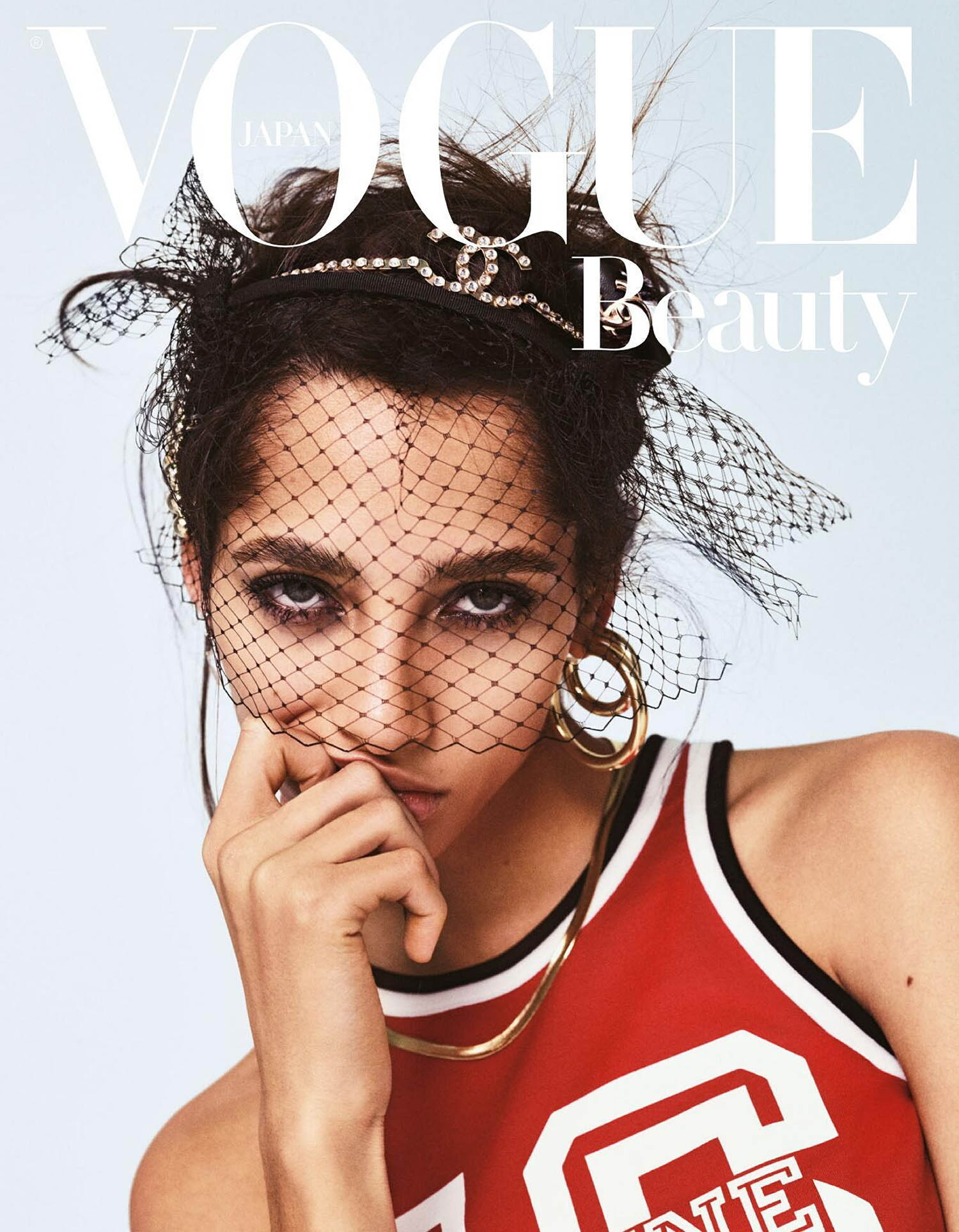 Yasmin Wijnaldum covers Vogue Beauty Japan March 2021 by Yulia Gorbachenko