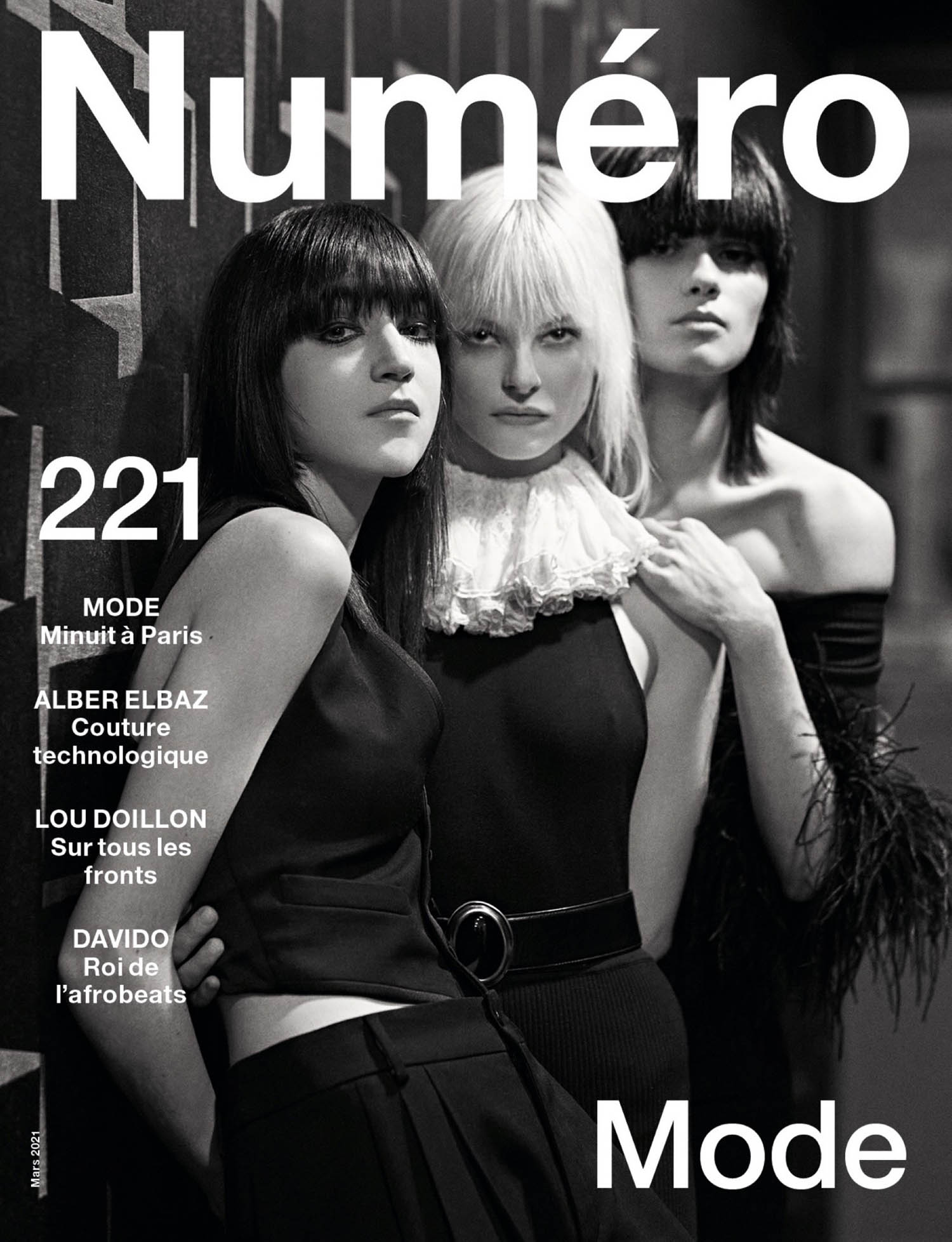 Zso Varju, Topsy and Antonia Przedpelski cover Numéro March 2021 by Dominique Issermann