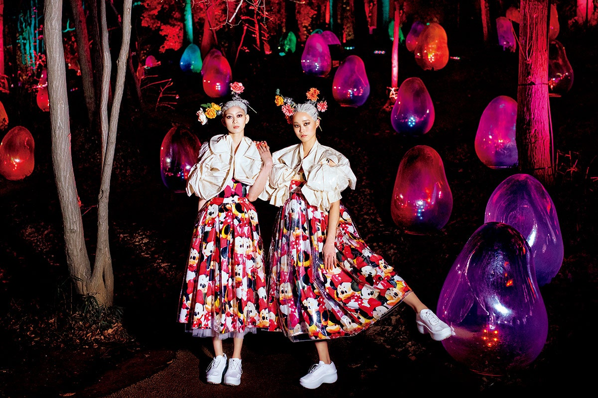 Ai Hahizume and Haruka Toyoda by Jiro Konami for Vogue Japan April 2021