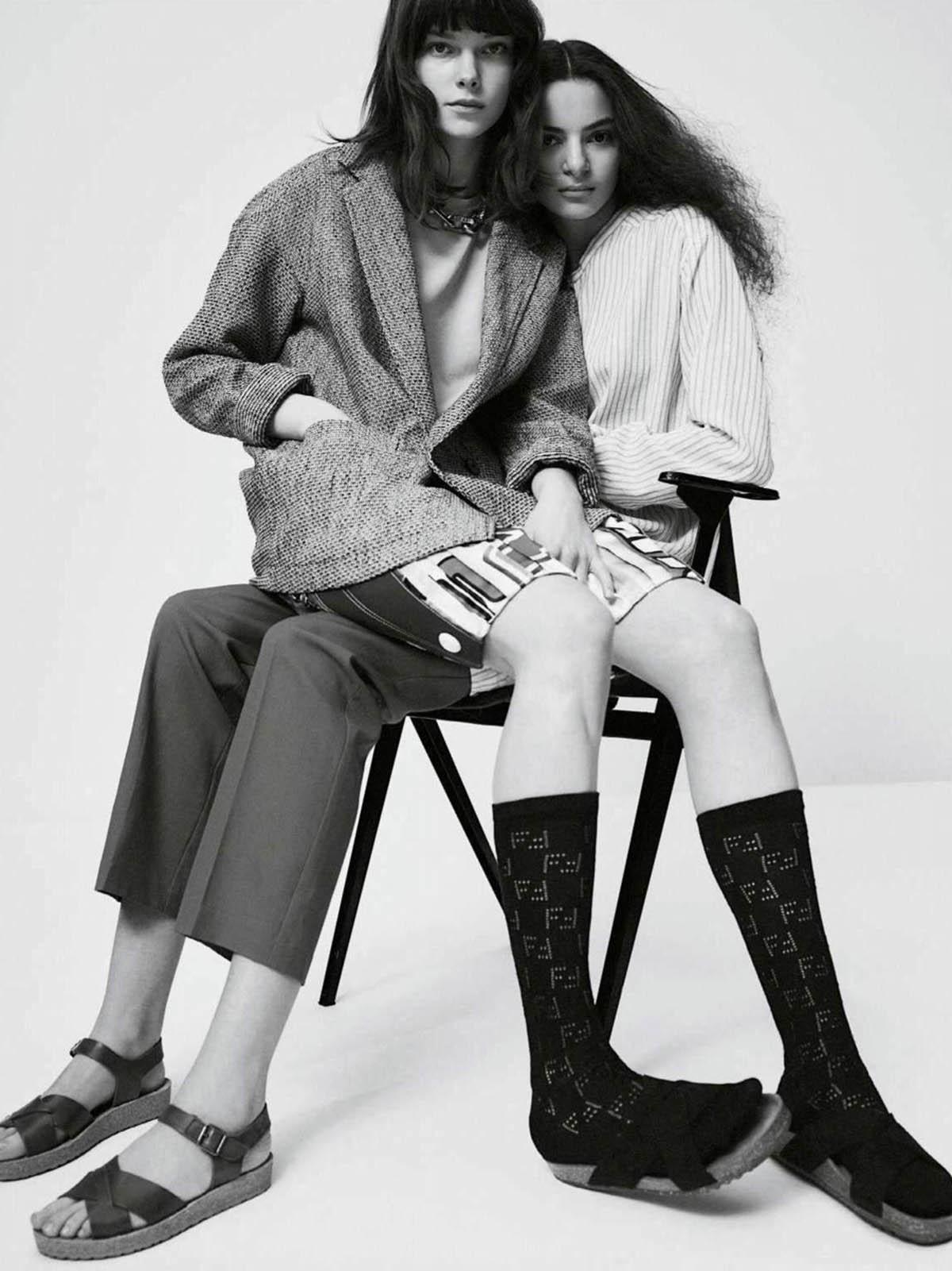Alicia Athamnia and Zita Dobar by Julia Champeau for Elle France April 16th, 2021