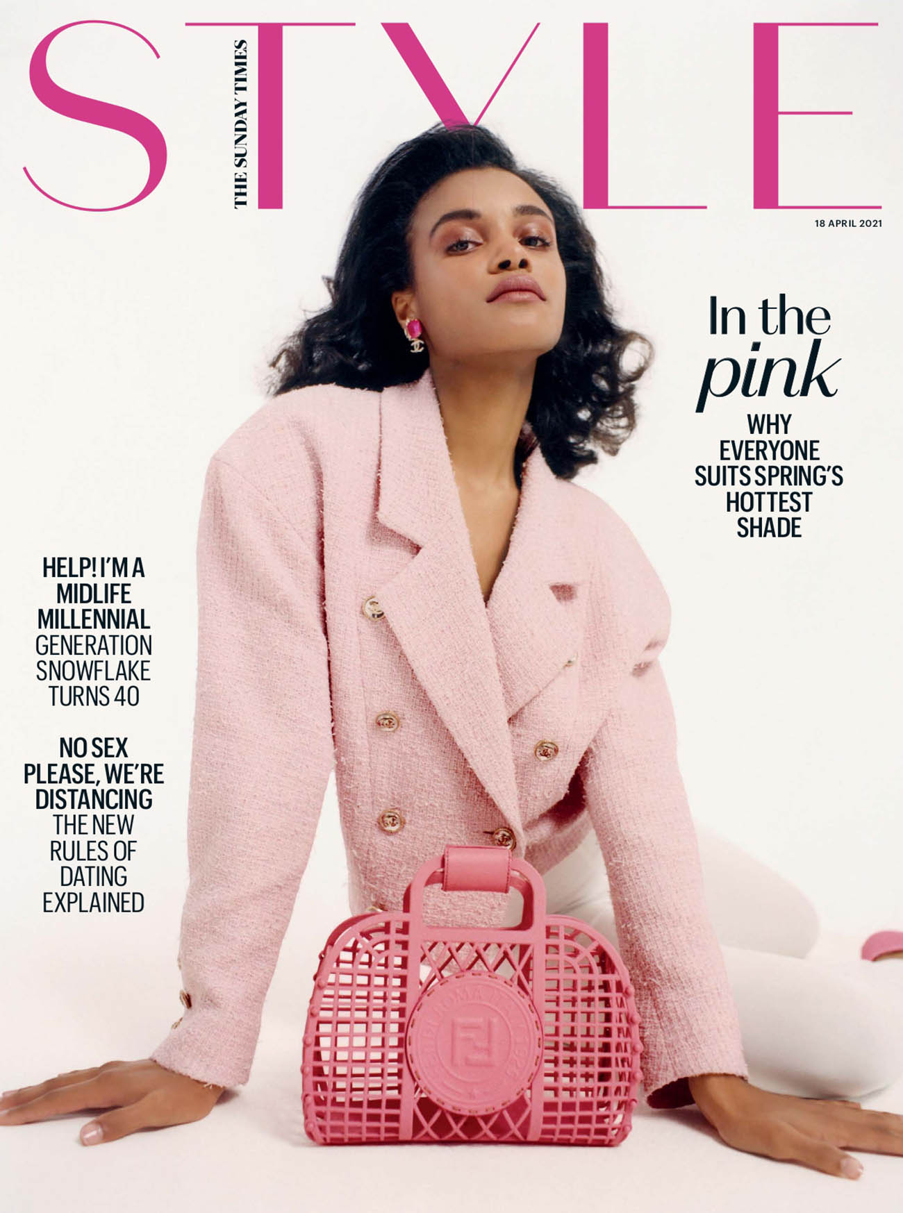 Amandine Guihard covers The Sunday Times Style April 18th, 2021 by Juliette Cassidy