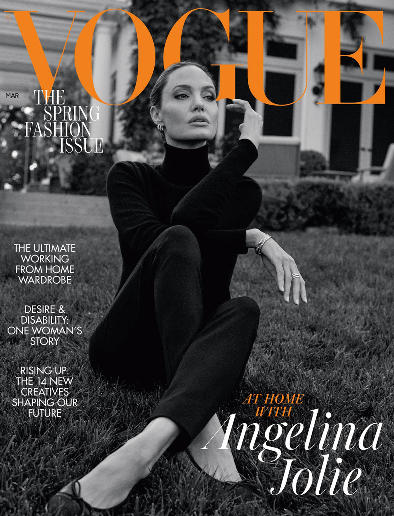 Angelina Jolie covers British Vogue March 2021 by Craig McDean