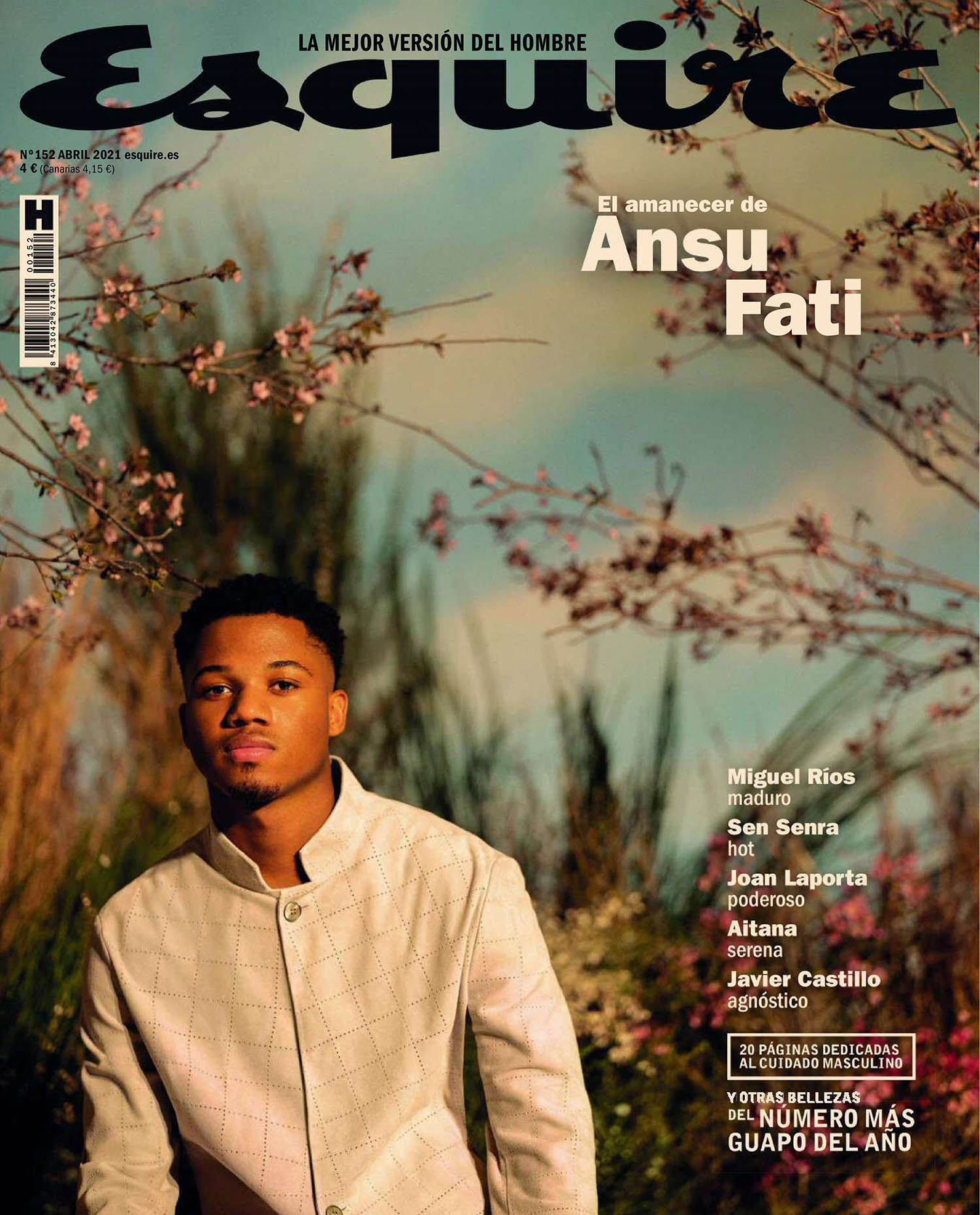 Ansu Fati covers Esquire Spain April 2021 by Juankr
