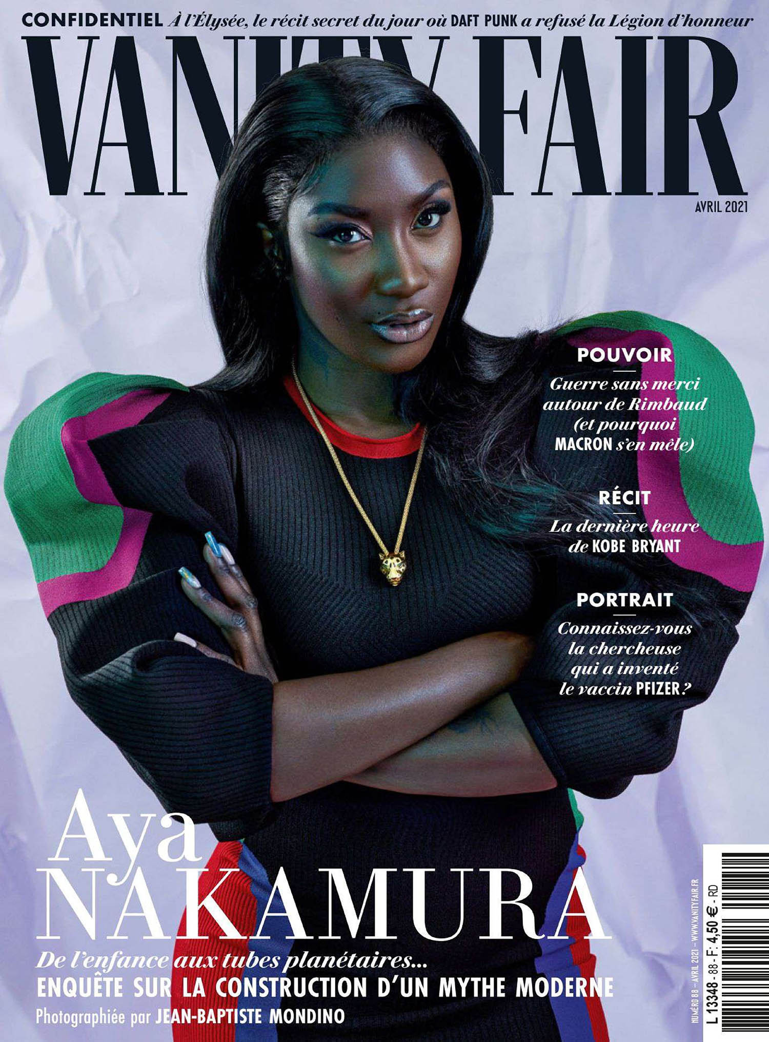 Aya Nakamura covers Vanity Fair France April 2021 by Jean-Baptiste Mondino