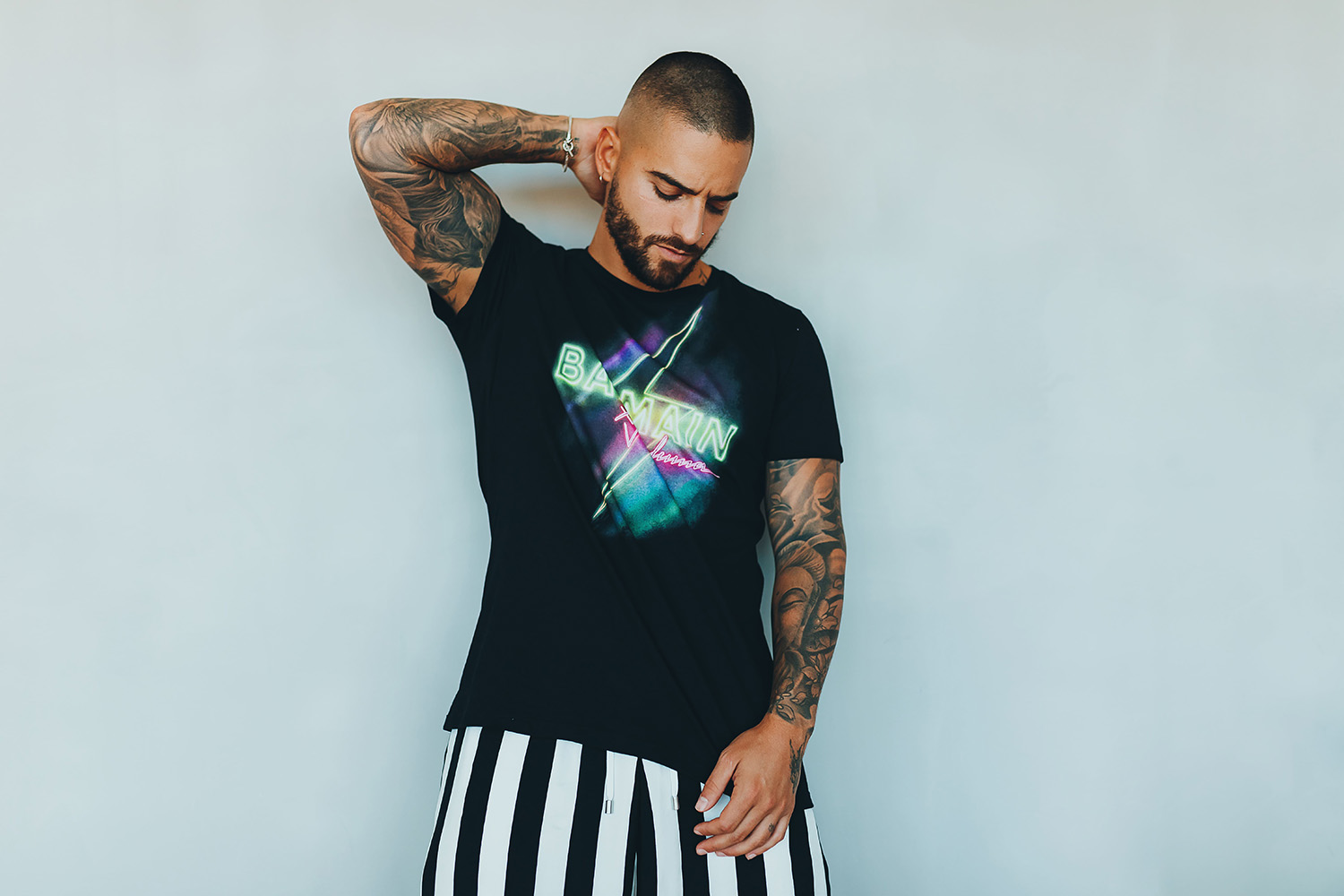Balmain and Maluma collaborate on a Miami-inspired capsule collection