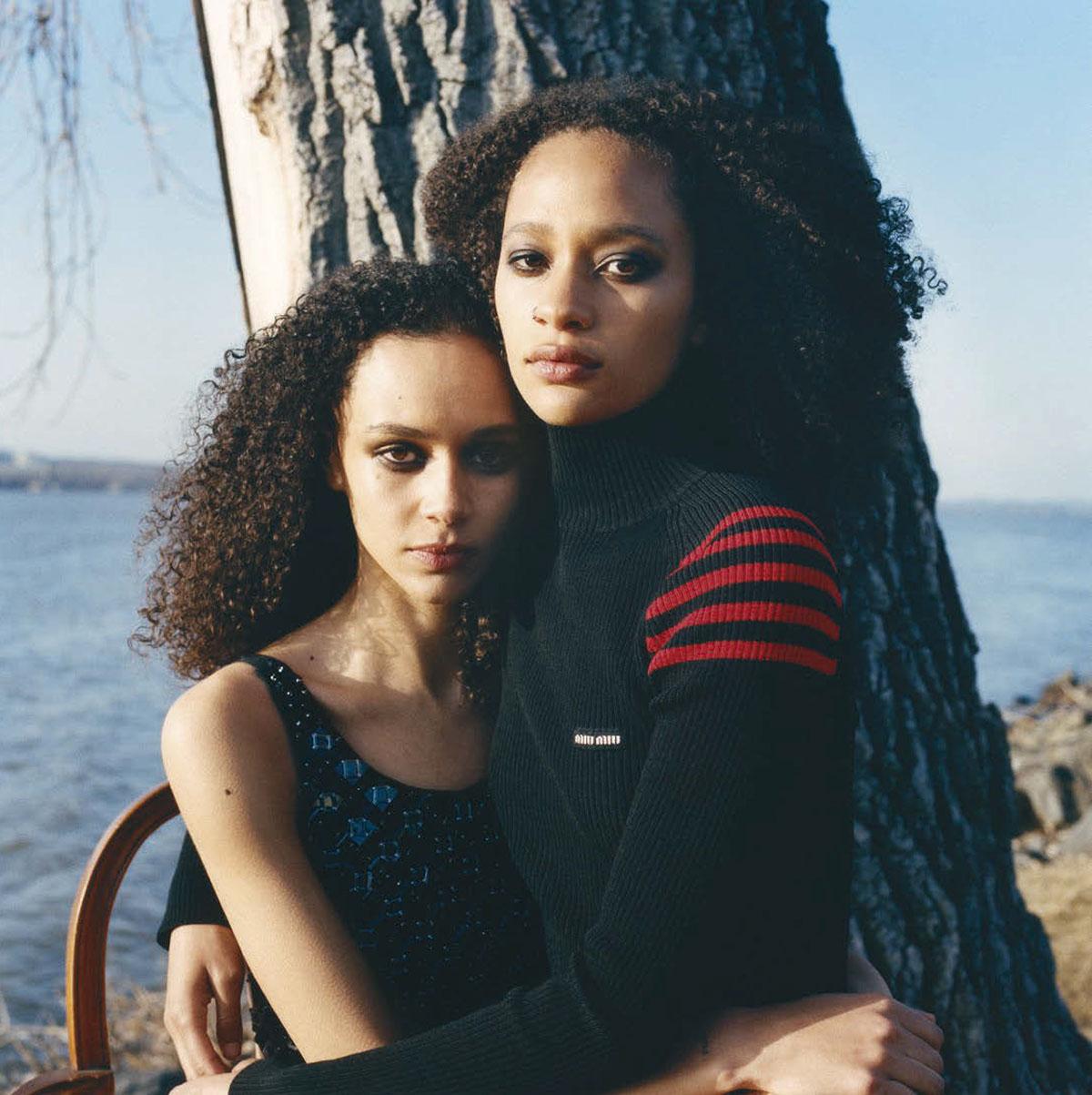 Binx Walton and Selena Forrest cover Vogue Italia April 2021 by Miranda Barnes