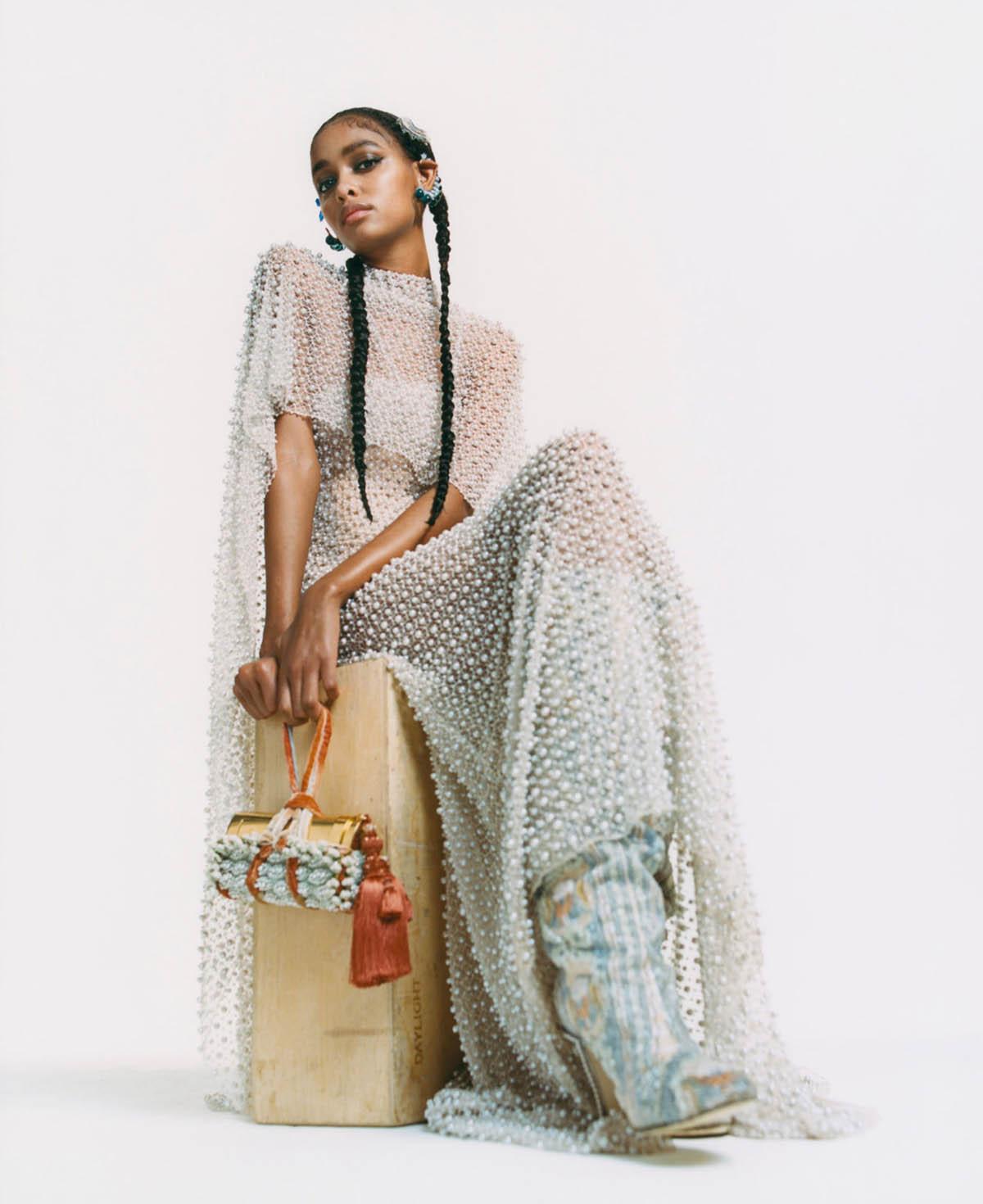 Blesnya Minher by Alexandre Guirkinger for Harper's Bazaar US April 2021