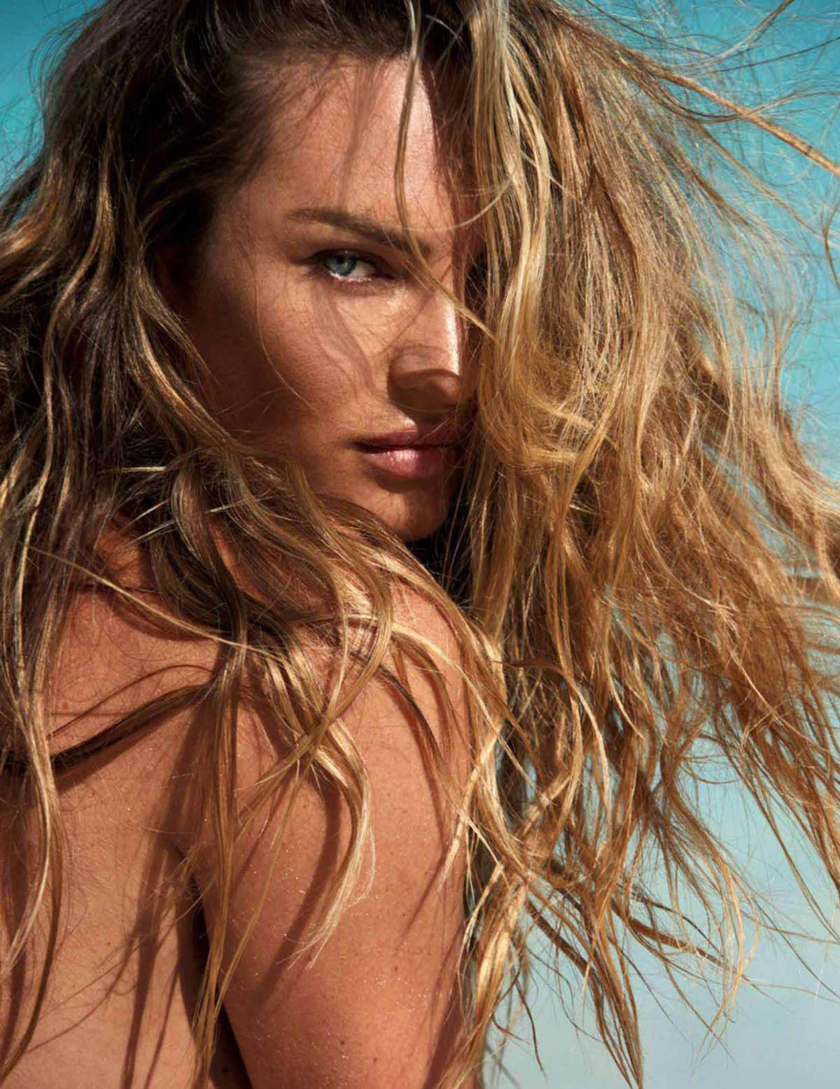 Candice Swanepoel covers Madame Figaro April 2nd, 2021 by David Roemer