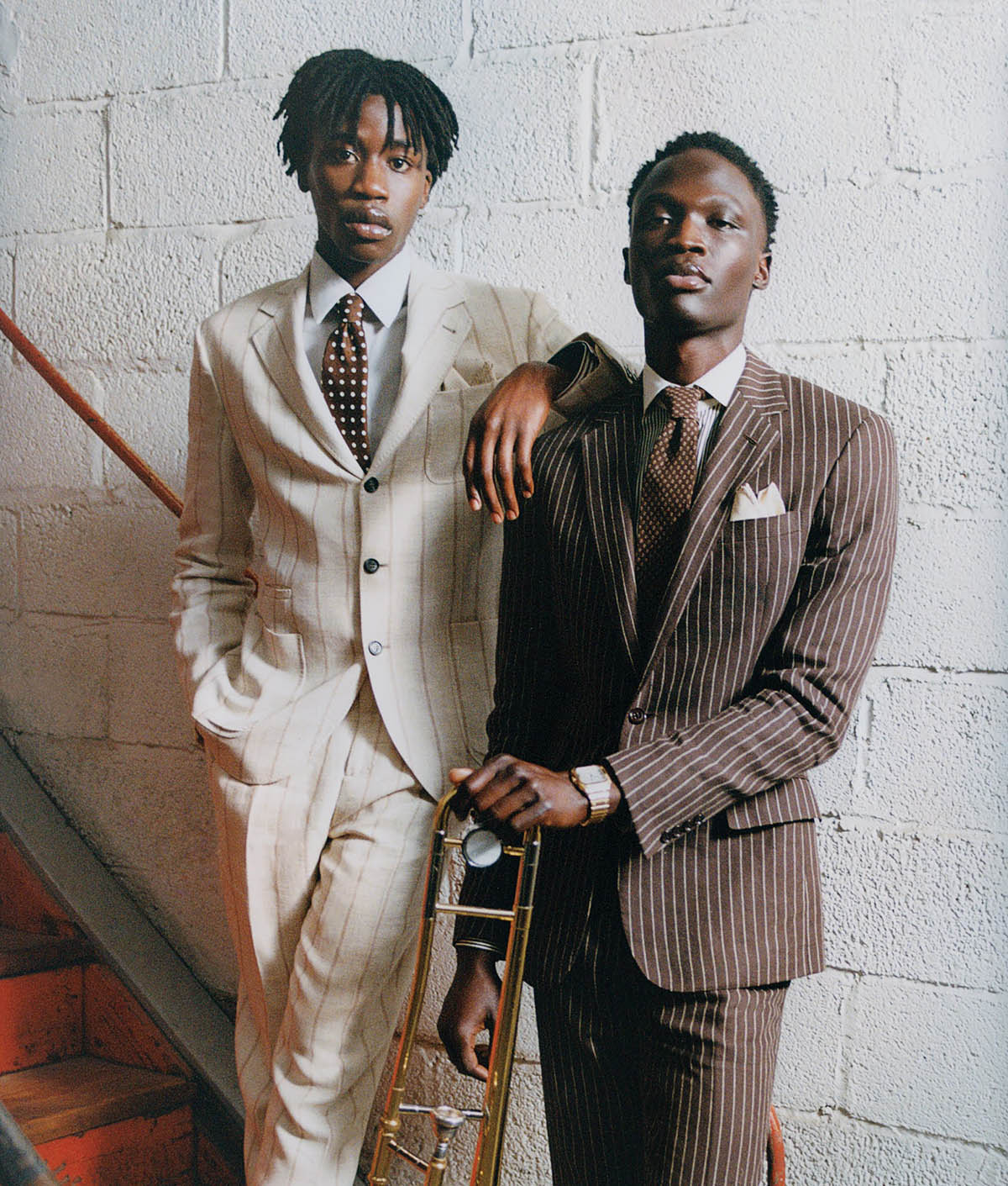 Cheikh Tall and Cloud Modi by Philip-Daniel Ducasse for WSJ. Magazine Spring 2021 Men's Style