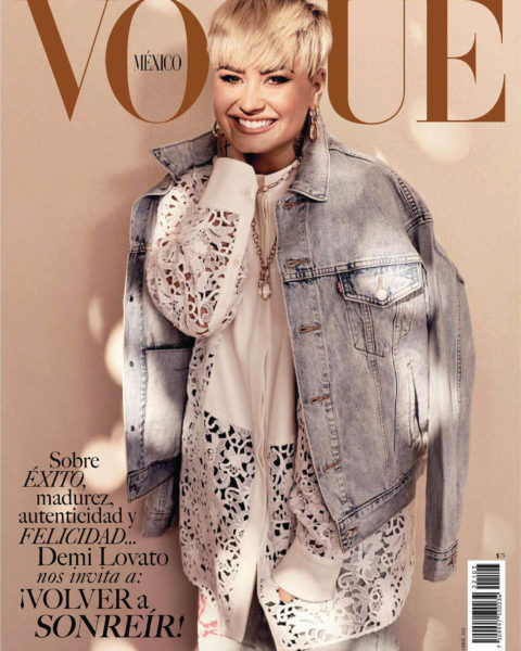 Demi Lovato covers Vogue Mexico & Latin America April 2021 by Art Streiber