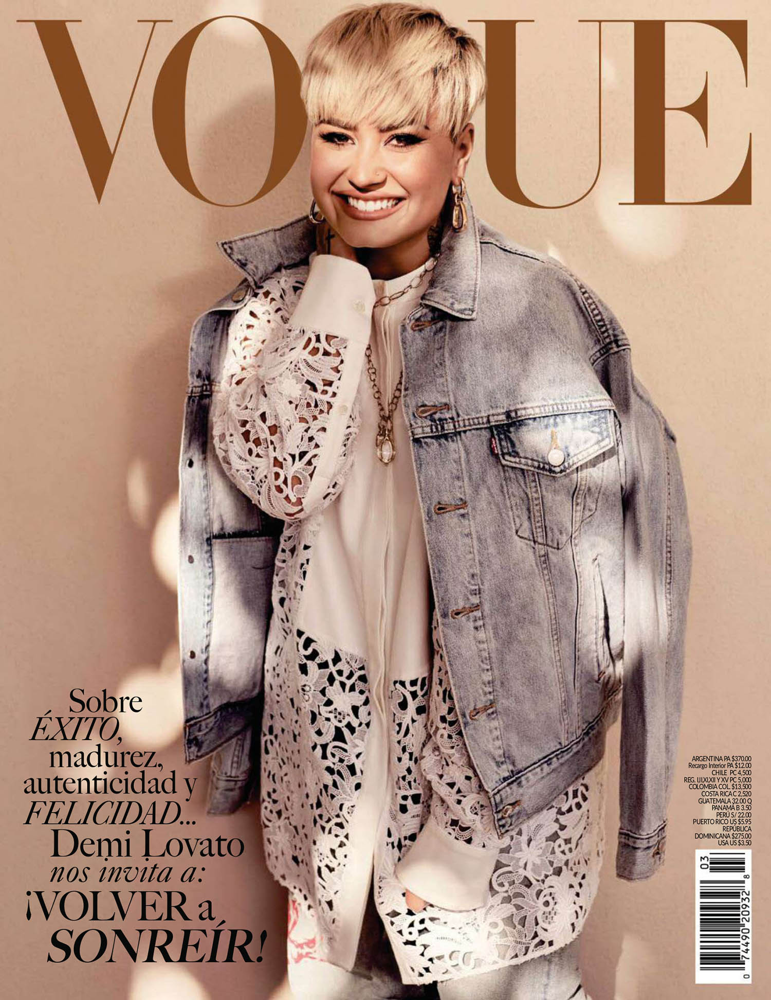 Demi Lovato covers Vogue Mexico & Latin America April 2021 by Art Streiber