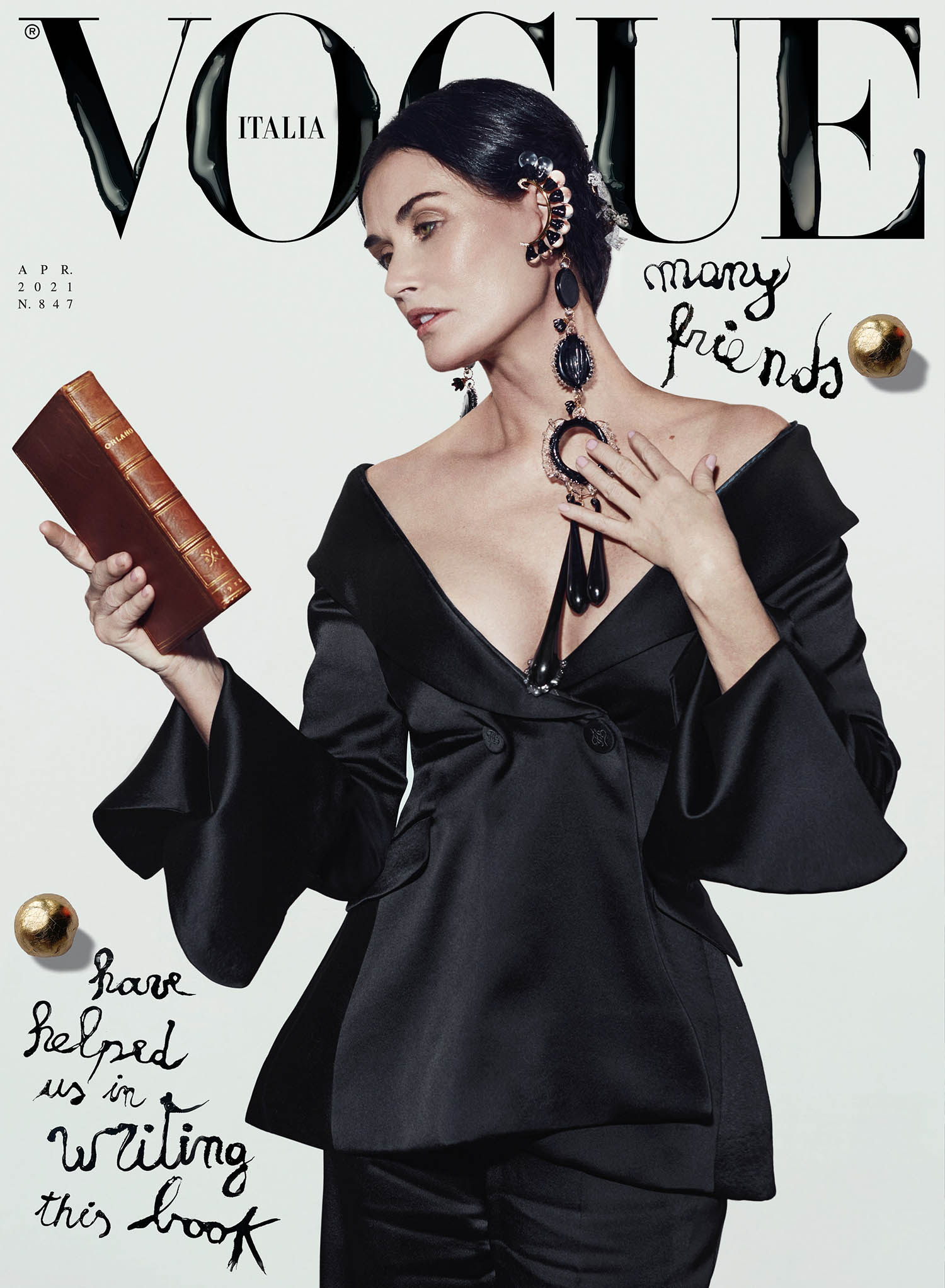 Demi Moore covers Vogue Italia April 2021 by Brett Lloyd