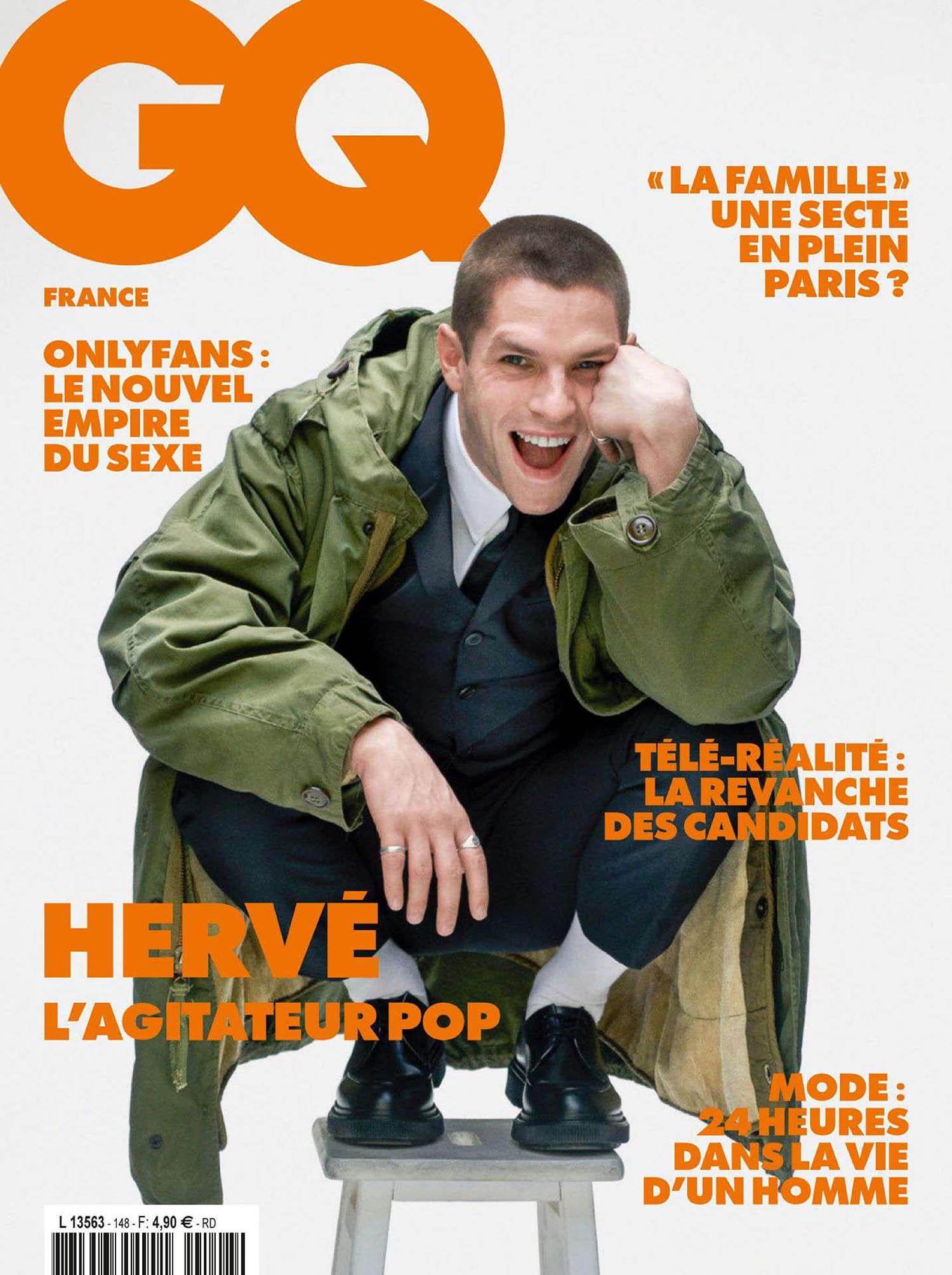 Hervé covers GQ France April 2021 by Alex Majoli