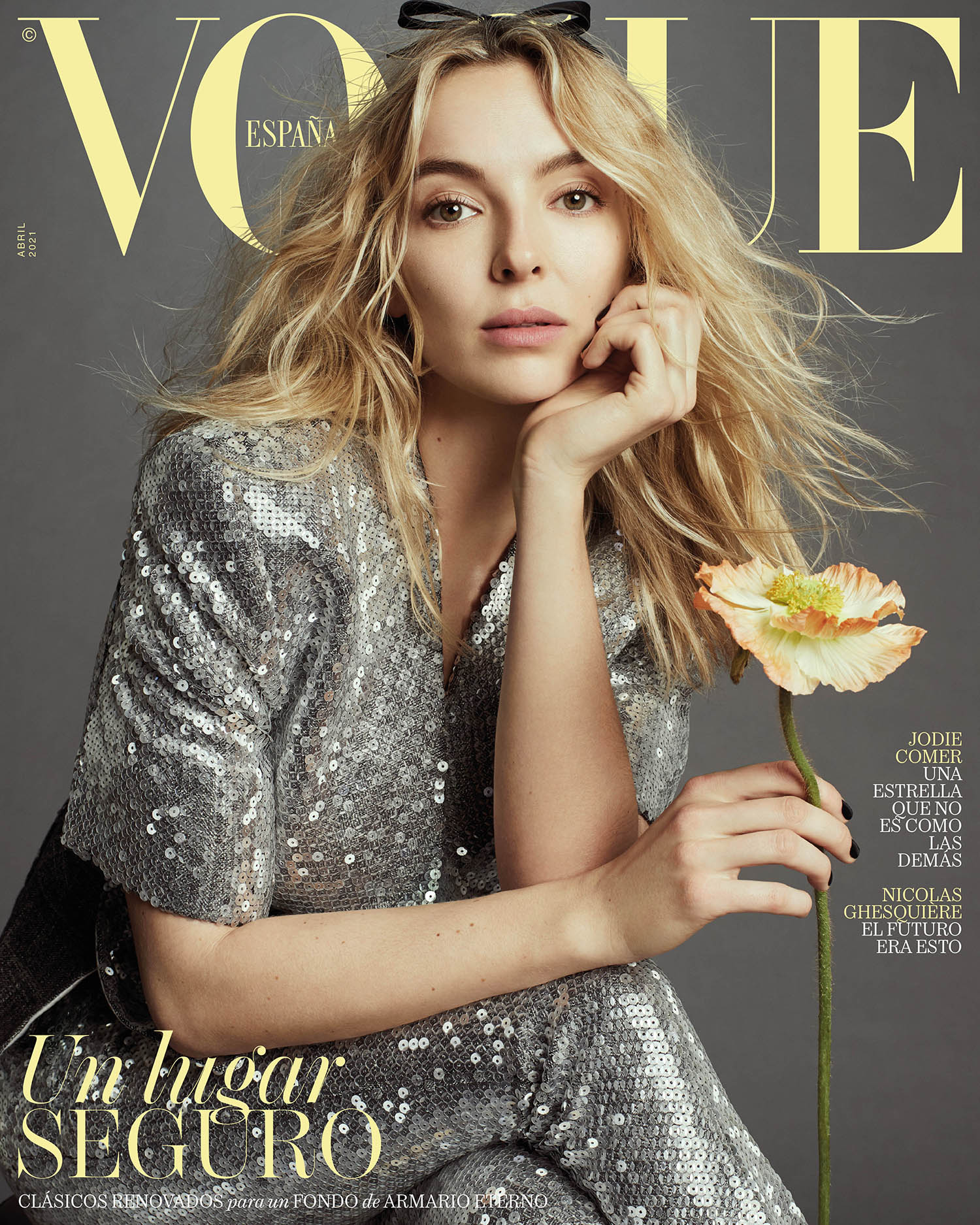 Jodie Comer covers Vogue Spain April 2021 by Emma Summerton