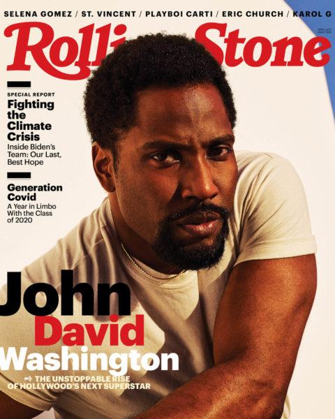 John David Washington covers Rolling Stone April 2021 by Dario Calmese