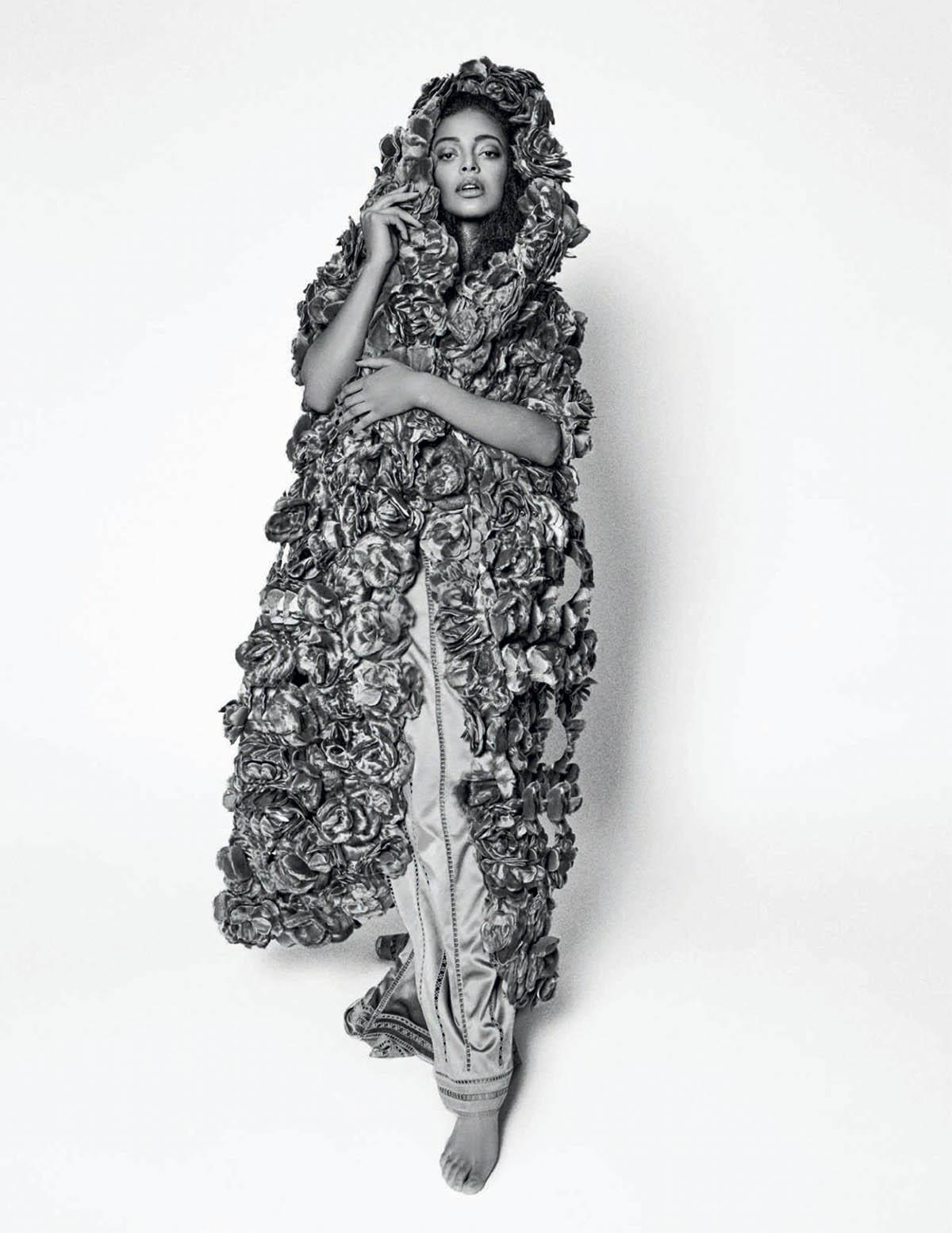 Kesewa Aboah covers Harper's Bazaar Spain April 2021 by Rosa Copado