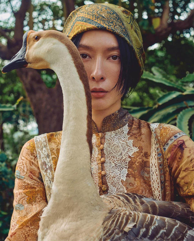 Liu Hsin Yu and Gia Tang by Cheng Po Ou Yang for Vogue Taiwan April 2021
