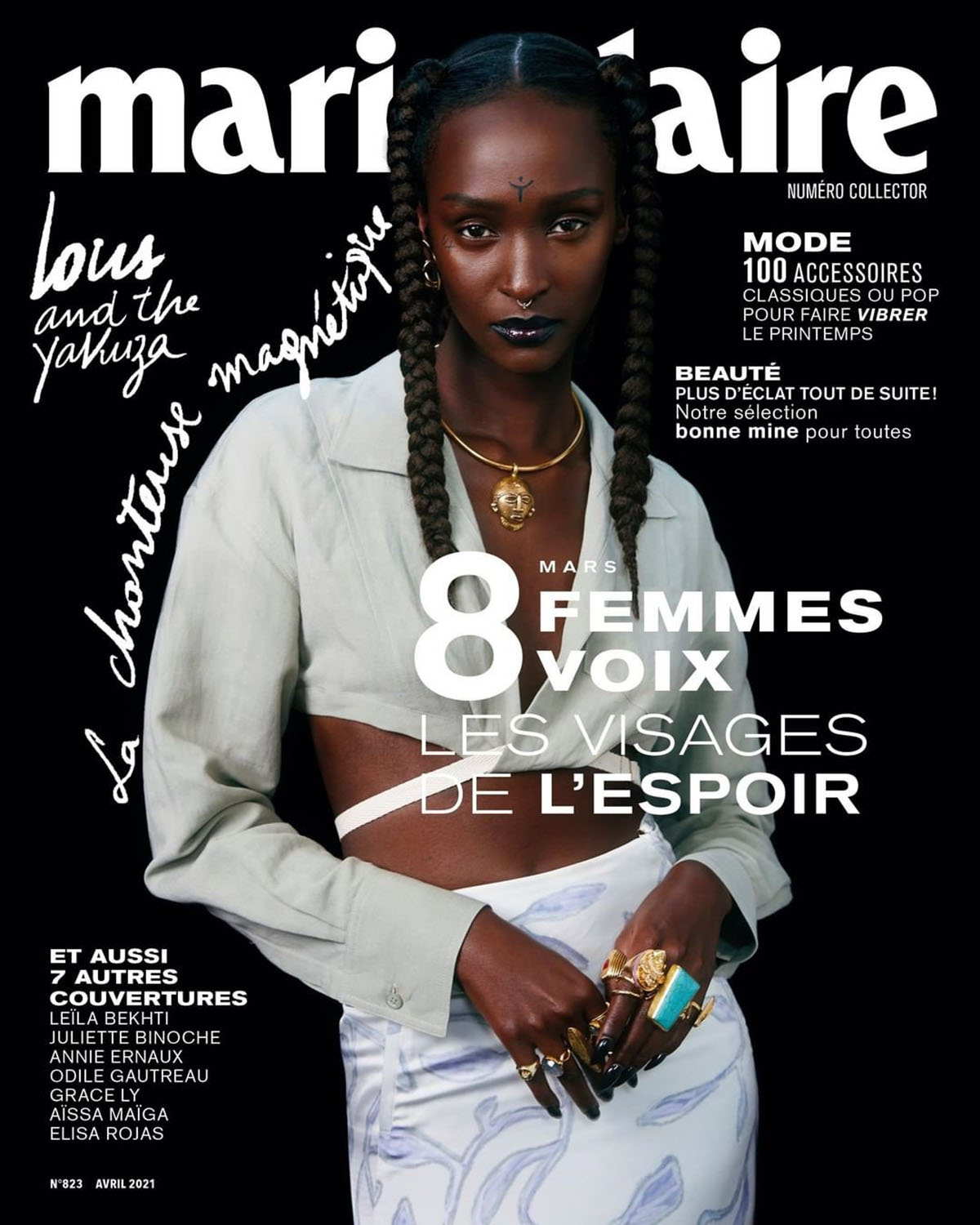 Lous and the Yakuza covers Marie Claire France April 2021 by Corentin Leroux
