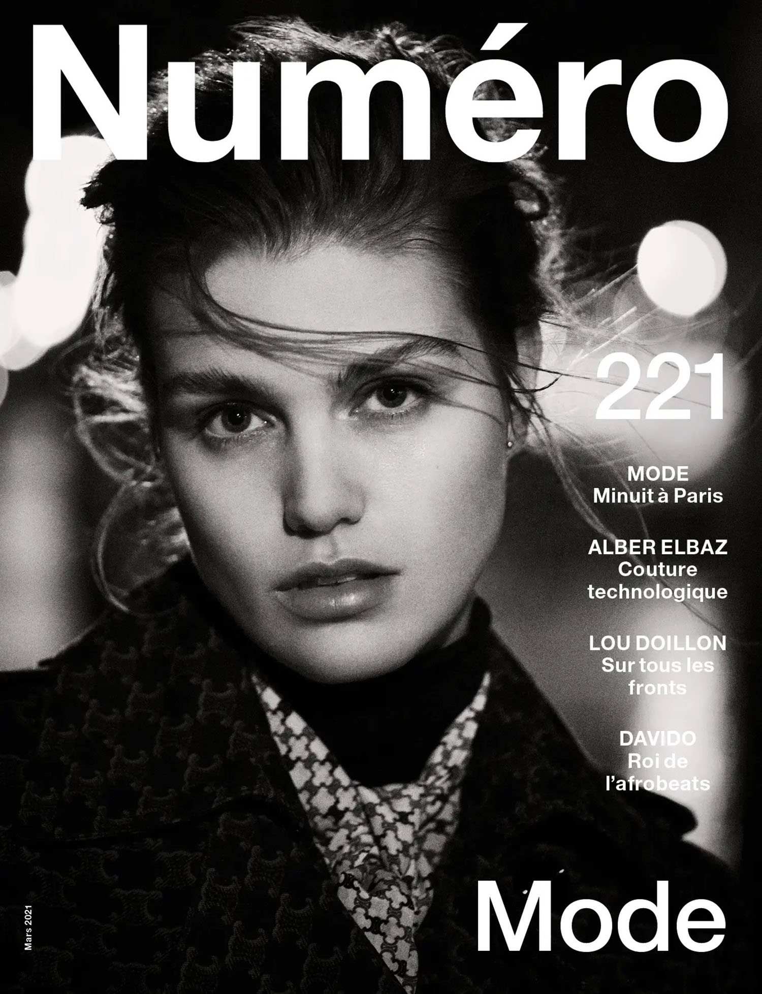 Luna Bijl covers Numéro March 2021 by Boo George