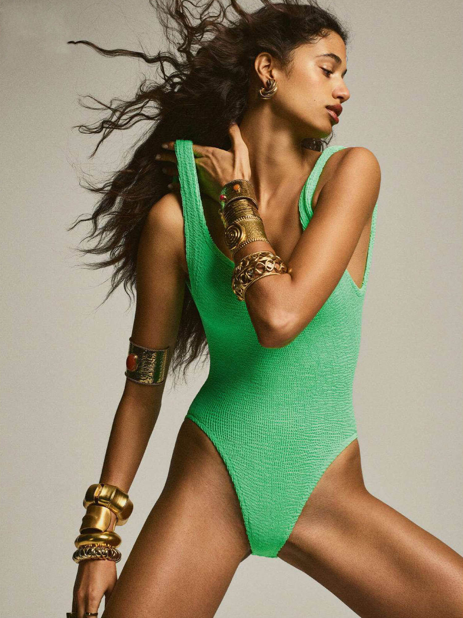 Malika El Maslouhi by Gregory Harris for Vogue Paris April 2021