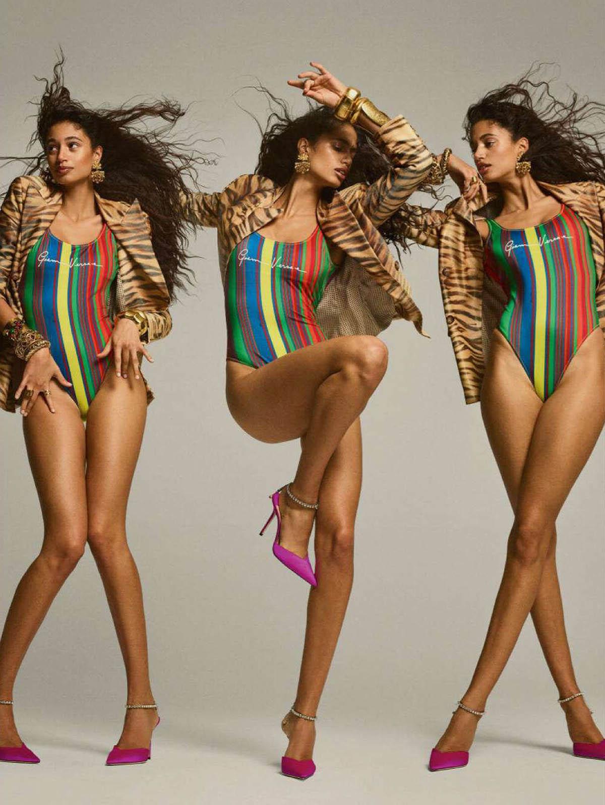 Malika El Maslouhi by Gregory Harris for Vogue Paris April 2021