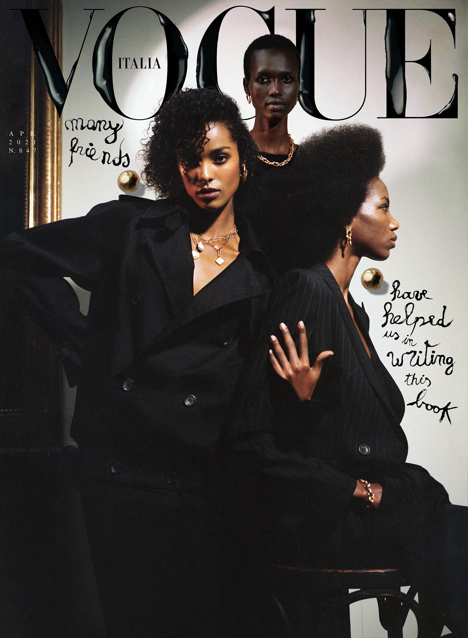 Malika Louback, Amar Akway and Skarla Ali cover Vogue Italia April 2021 by Malick Bodian