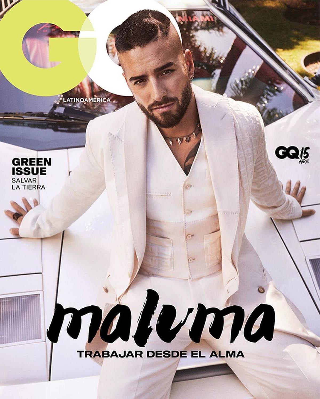 Maluma covers GQ Mexico & Latin America April 2021 by Michael Schwartz