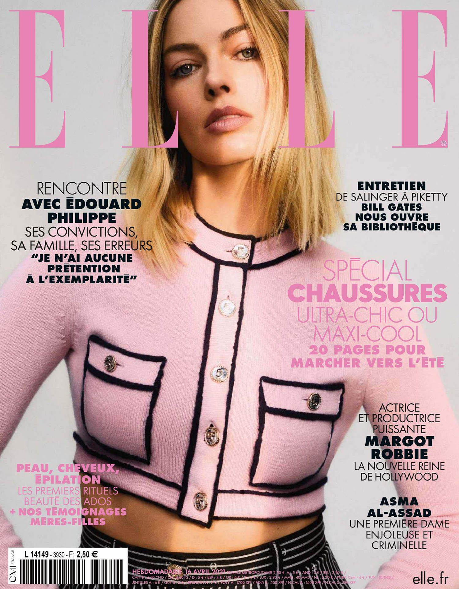 Margot Robbie covers Elle France April 16th, 2021 by Zoey Grossman