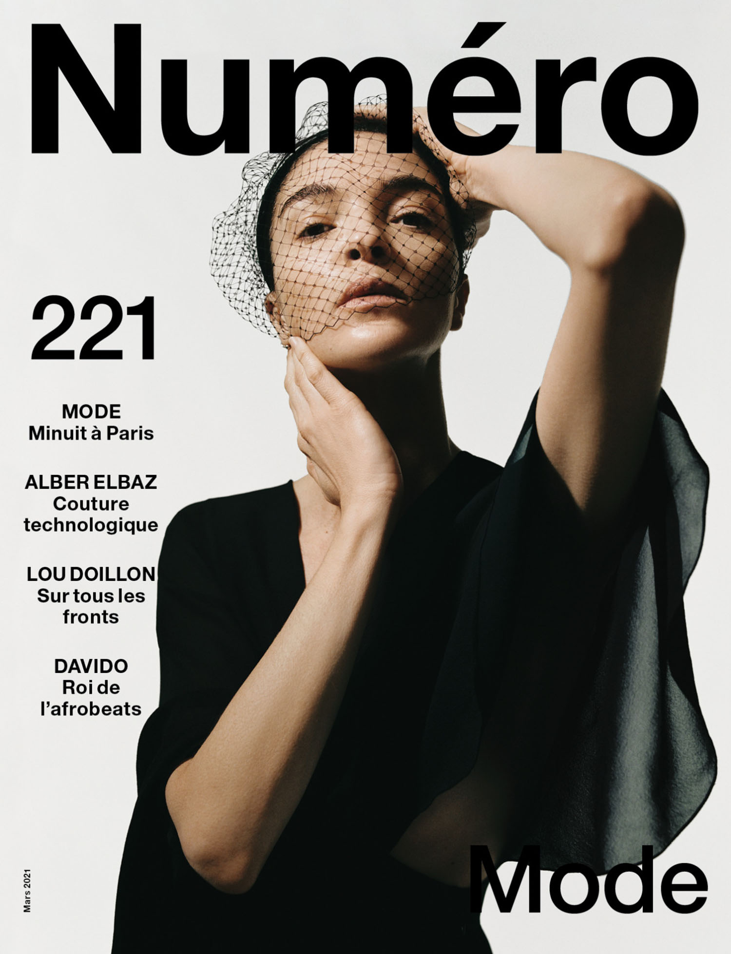 Mariacarla Boscono covers Numéro March 2021 by Dan Beleiu