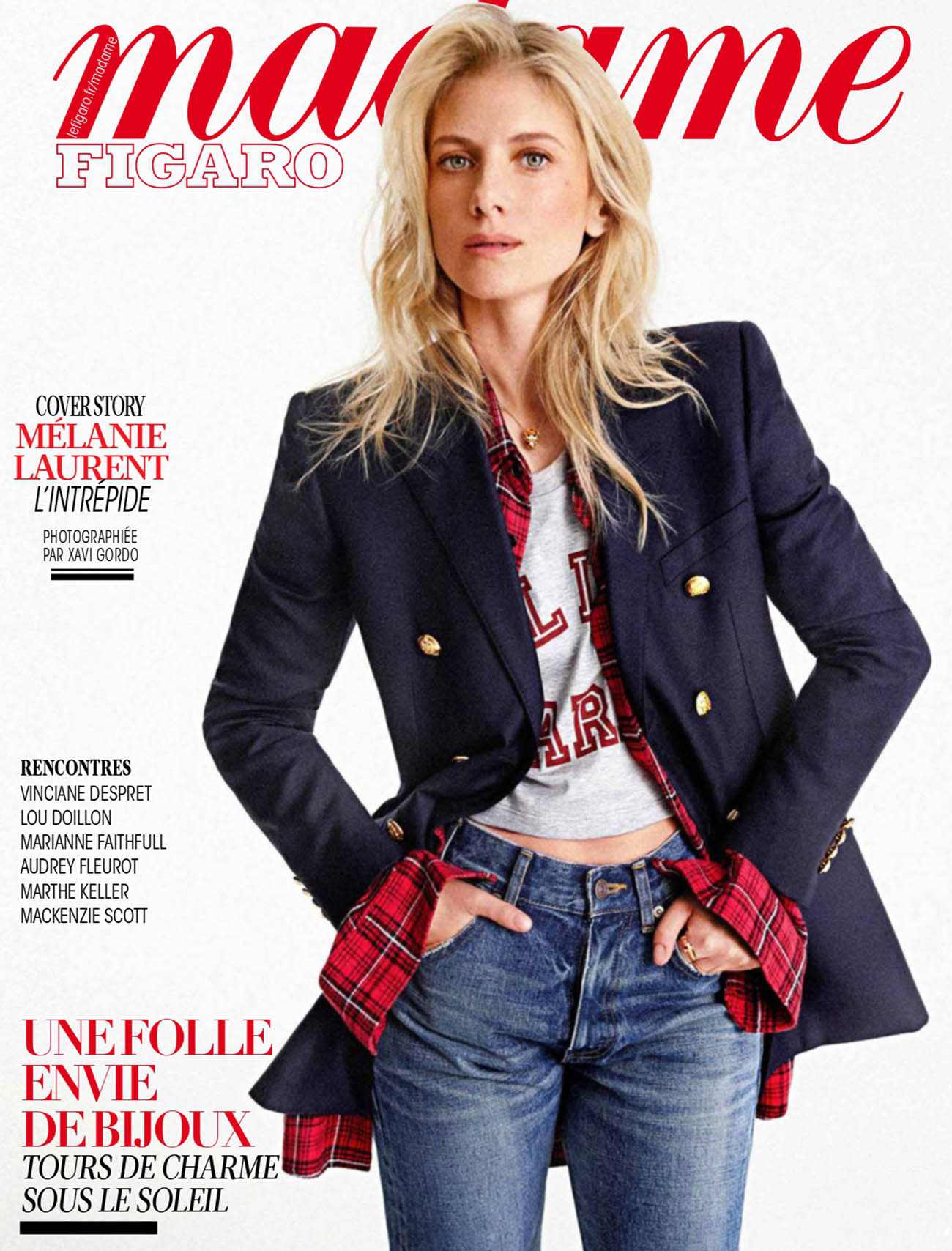 Mélanie Laurent covers Madame Figaro April 30th, 2021 by Xavi Gordo