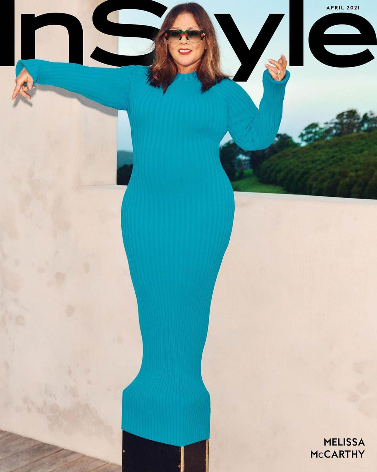 Melissa McCarthy covers InStyle US April 2021 by Charles Dennington