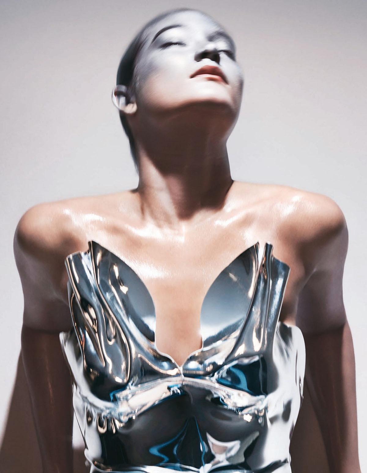 Mona Matsuoka by Nick Krasznai for Vogue China April 2021
