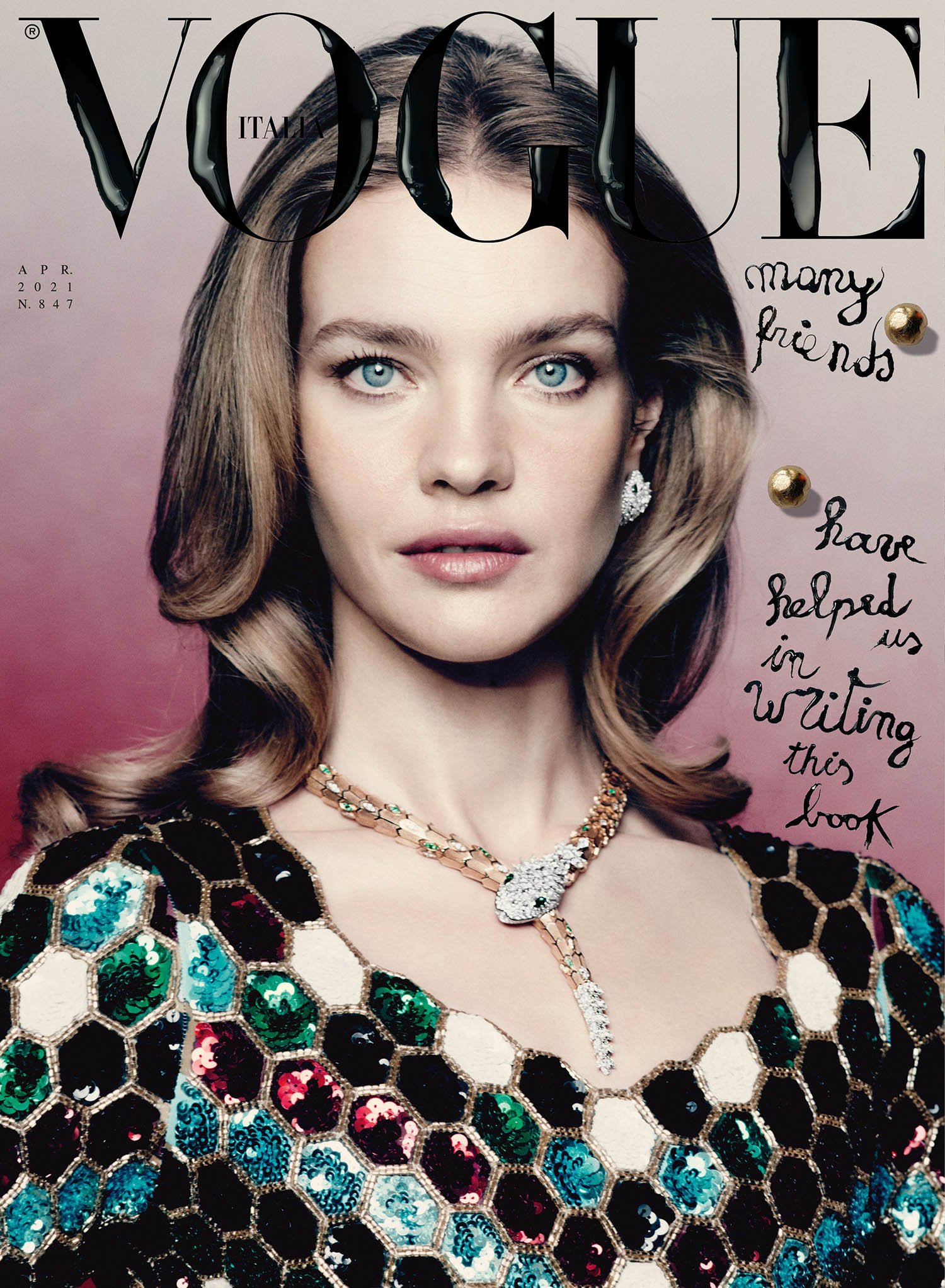 Natalia Vodianova covers Vogue Italia April 2021 by Paolo Roversi