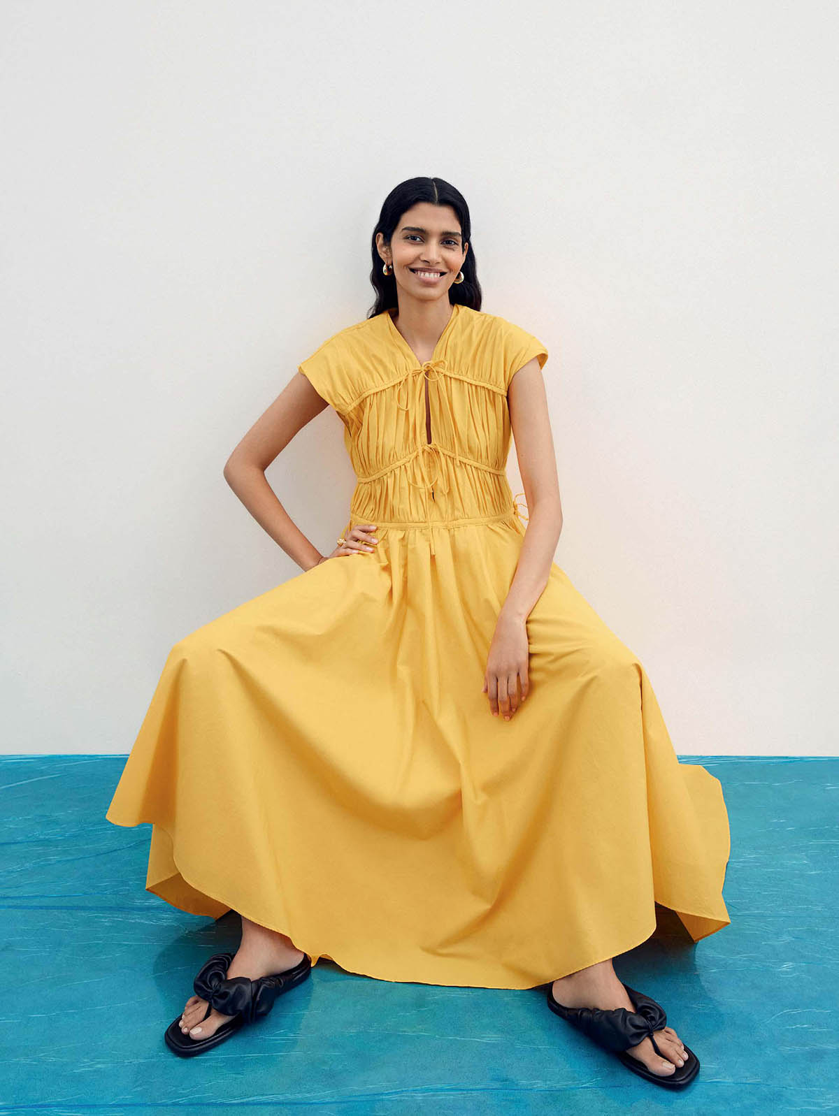 Pooja Mor covers The Sunday Times Style April 4th, 2021 by Georgia Devey Smith