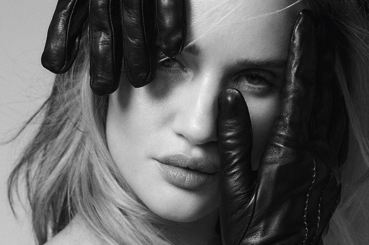 Rosie Huntington-Whiteley covers Elle UK April 2021 by Quentin Jones