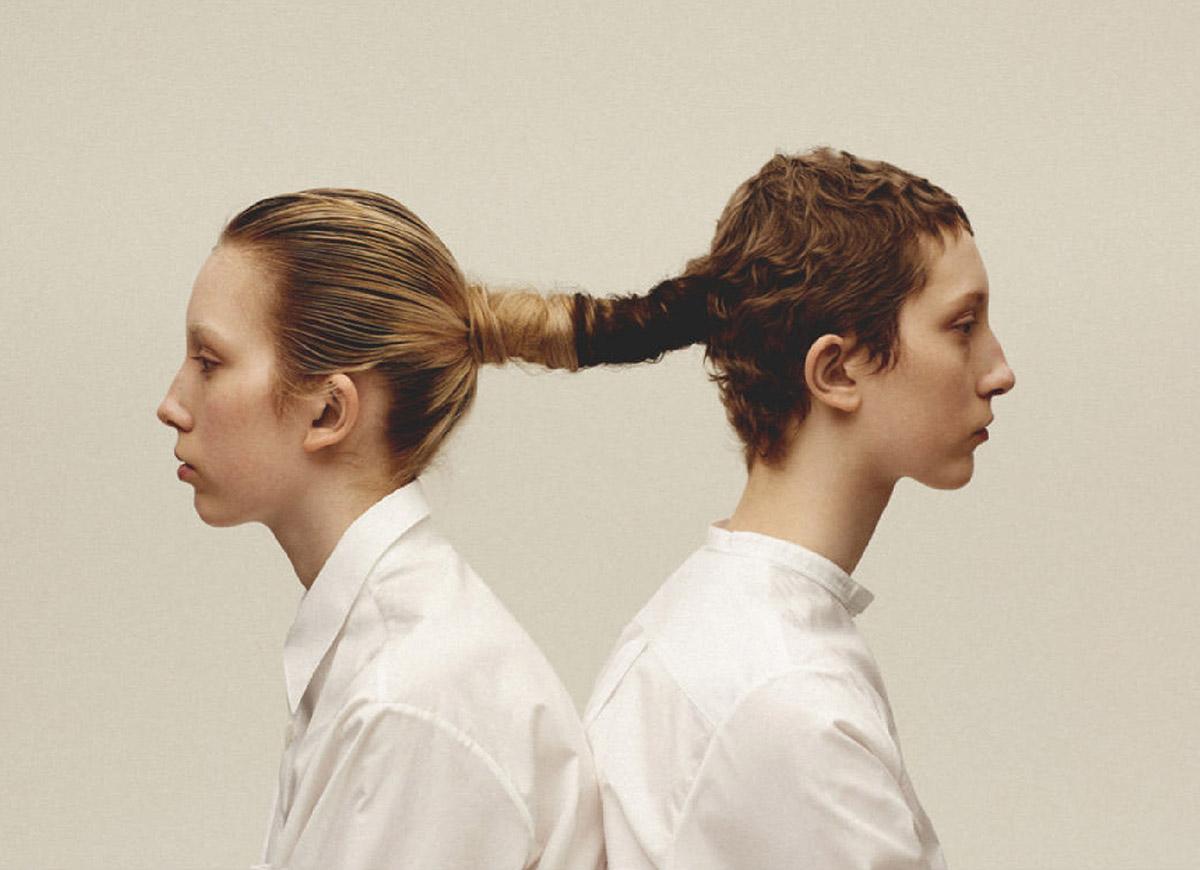 Sasha and Sonya Komarov by Arseny Jabiev for Vogue Russia April 2021