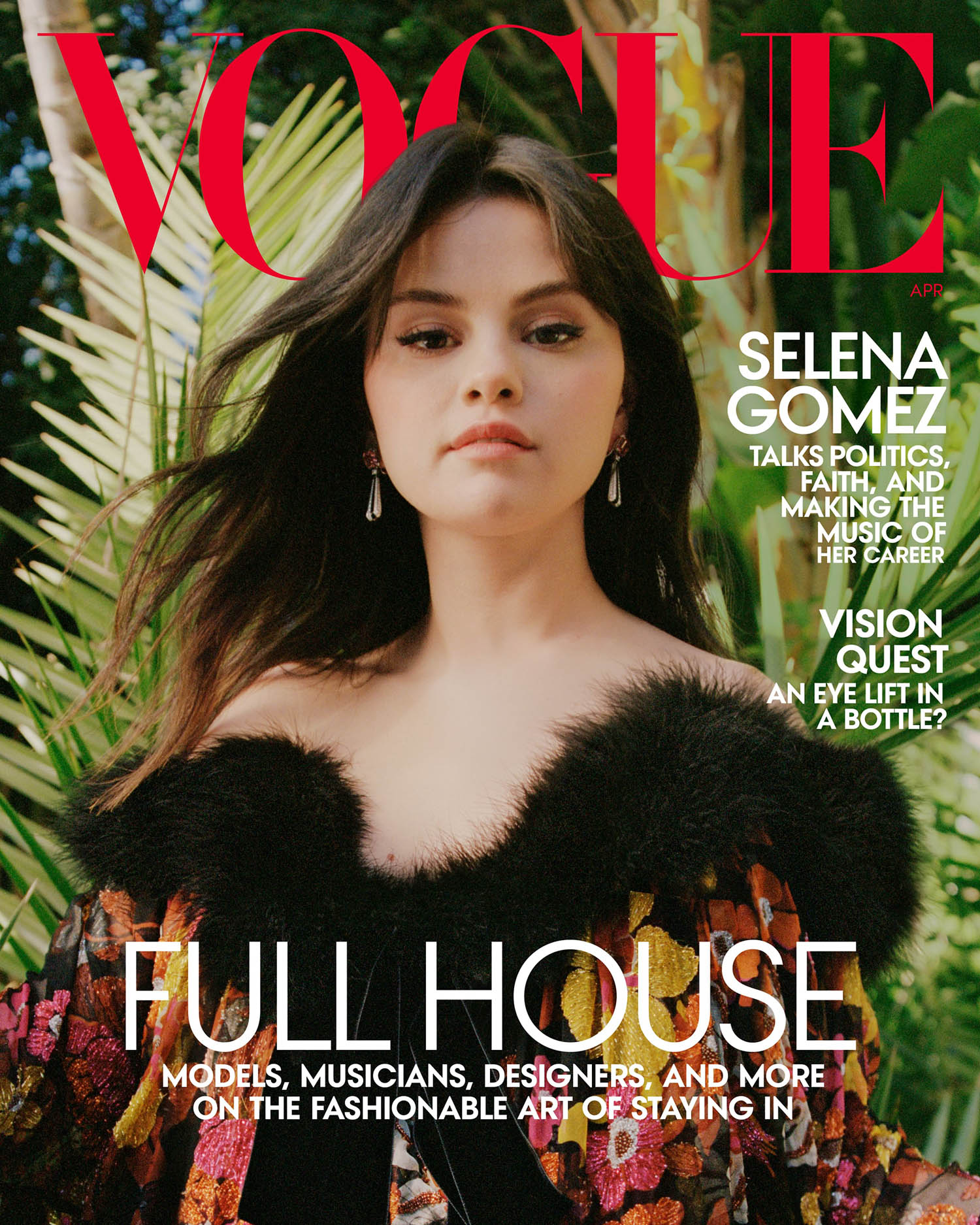 Selena Gomez covers Vogue US April 2021 by Nadine Ijewere