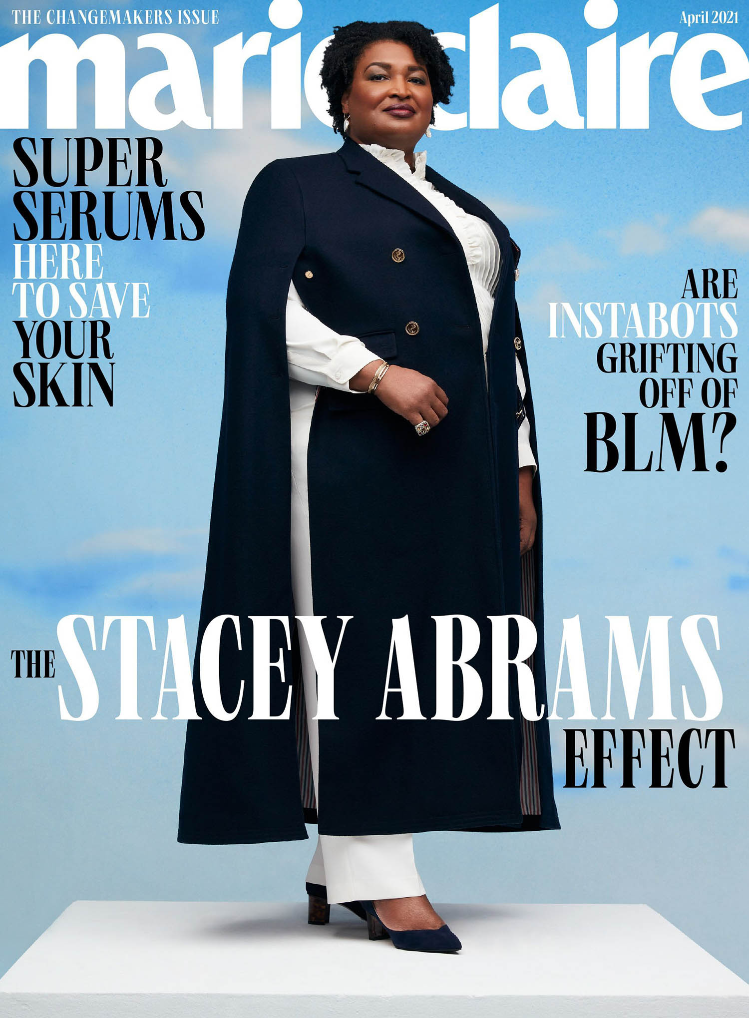 Stacey Abrams covers Marie Claire US April 2021 by AB + DM