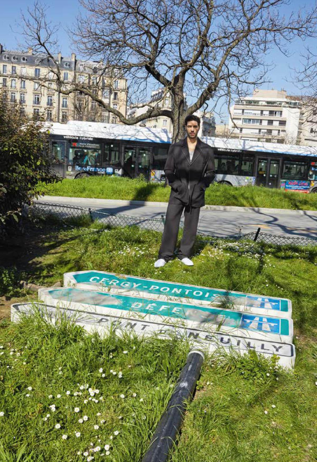 Tahar Rahim covers M Le magazine du Monde April 10th, 2021 by Juergen Teller
