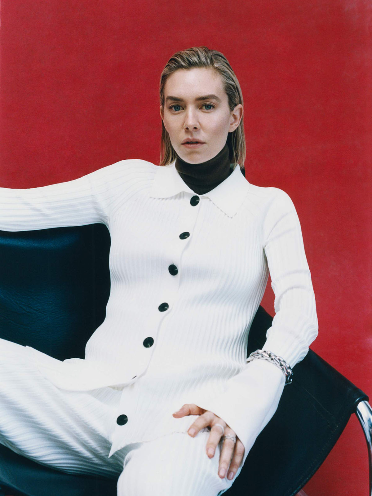 Vanessa Kirby covers Porter Magazine April 5th, 2021 by Toby Coulson