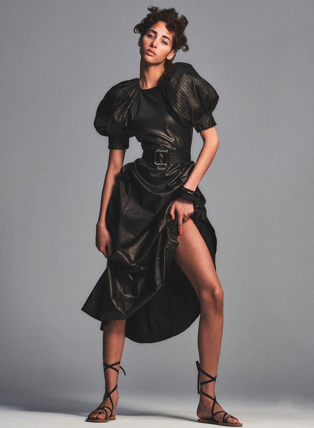 Yasmin Wijnaldum by Chris Colls for Elle US April 2021