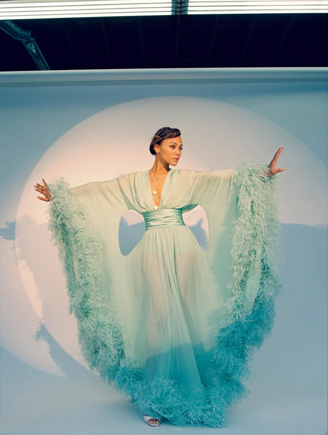 Zoe Saldana covers Flaunt Magazine Issue 174 by Sasha Samsonova
