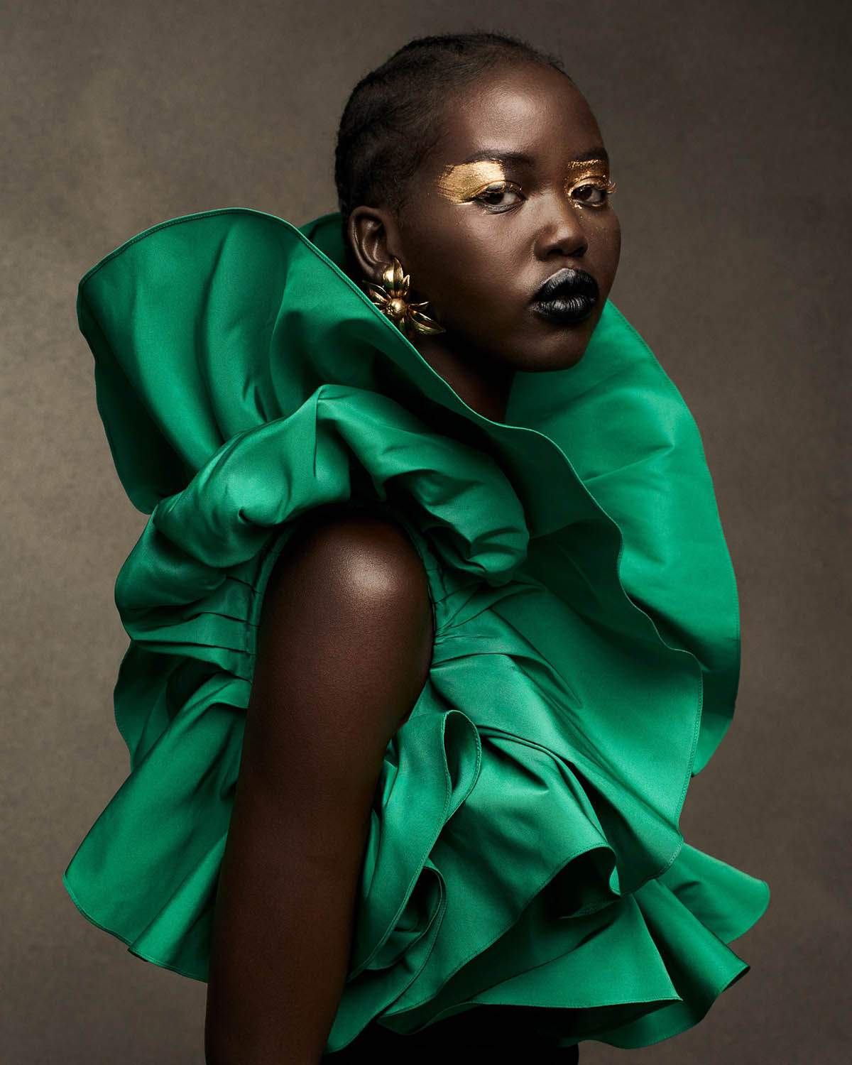 Adut Akech and Imaan Hammam by Ethan James Green for Vogue US May 2021