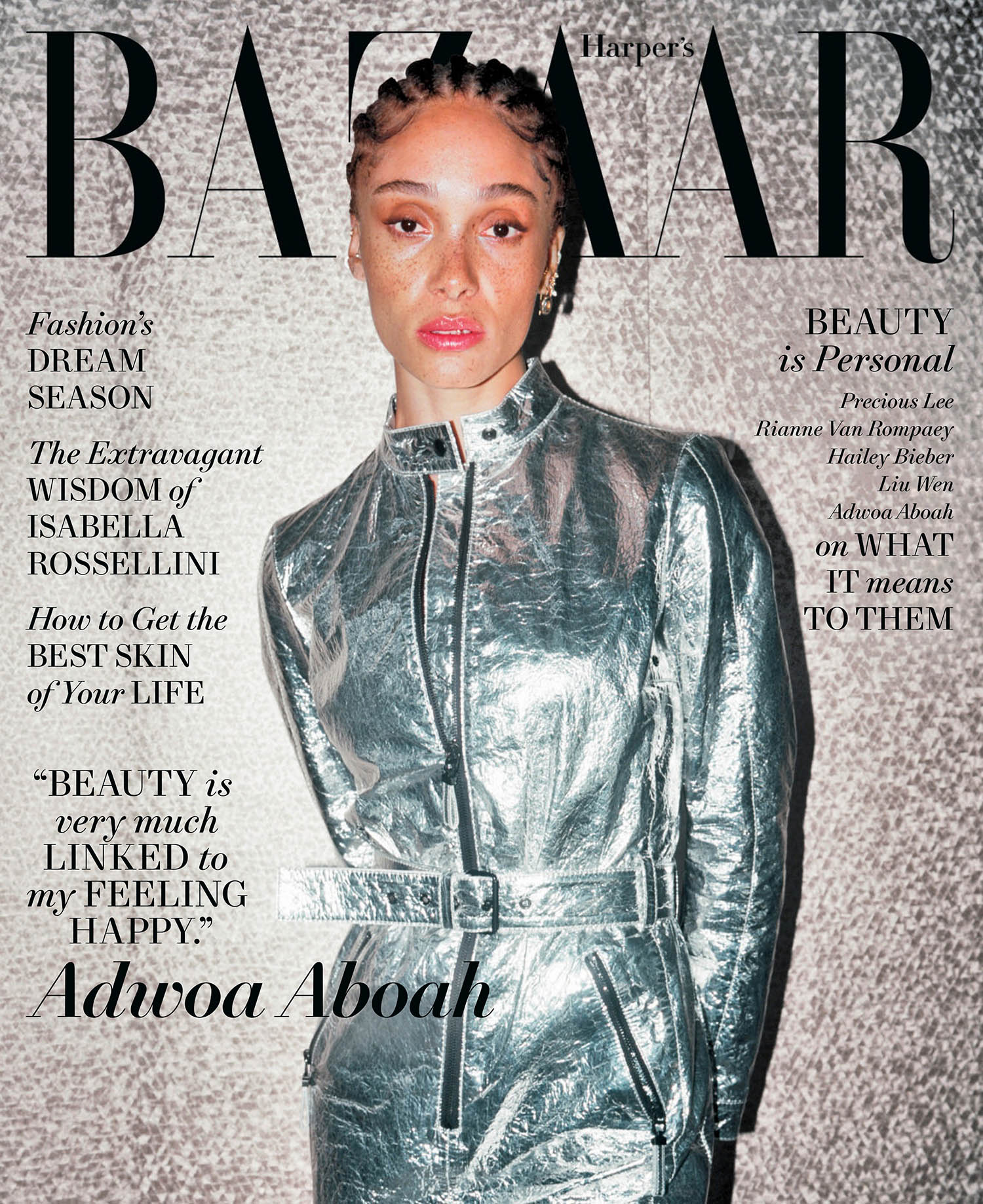 Adwoa Aboah covers Harper's Bazaar US May 2021 by Liz Johnson Artur