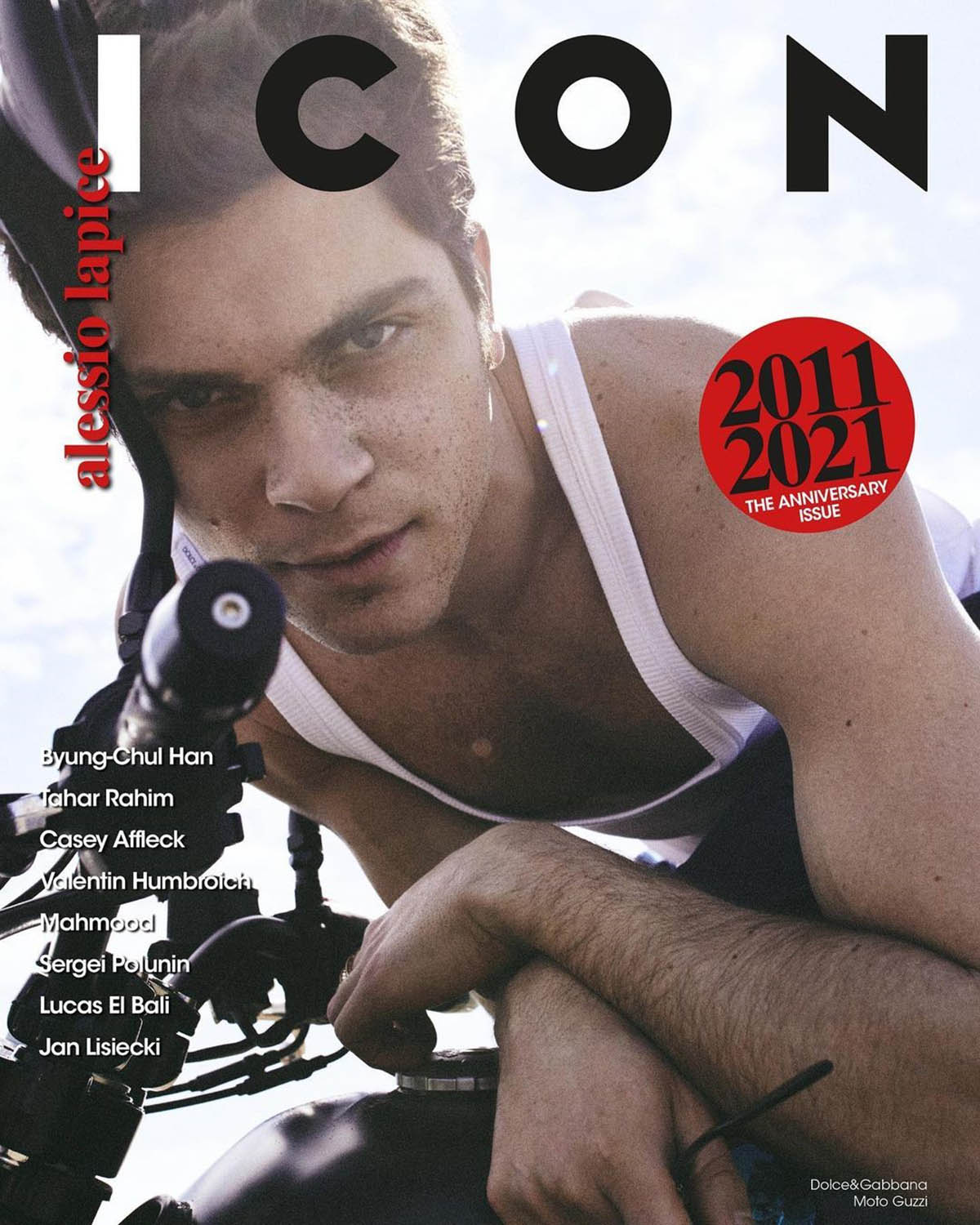 Alessio Lapice covers Icon Italia ''10th Anniversary Issue'' by Van Mossevelde + N