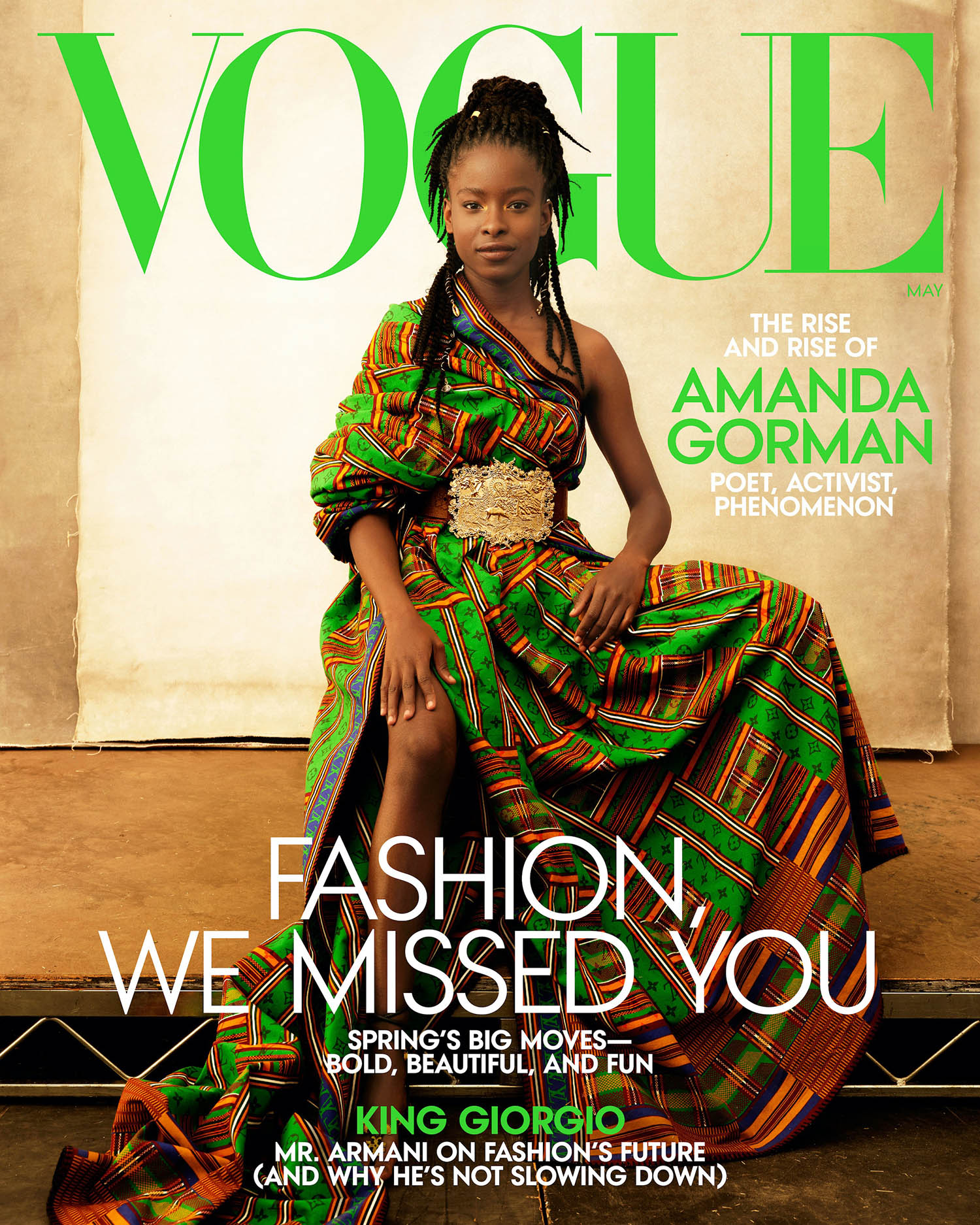 Amanda Gorman covers Vogue US May 2021 by Annie Leibovitz